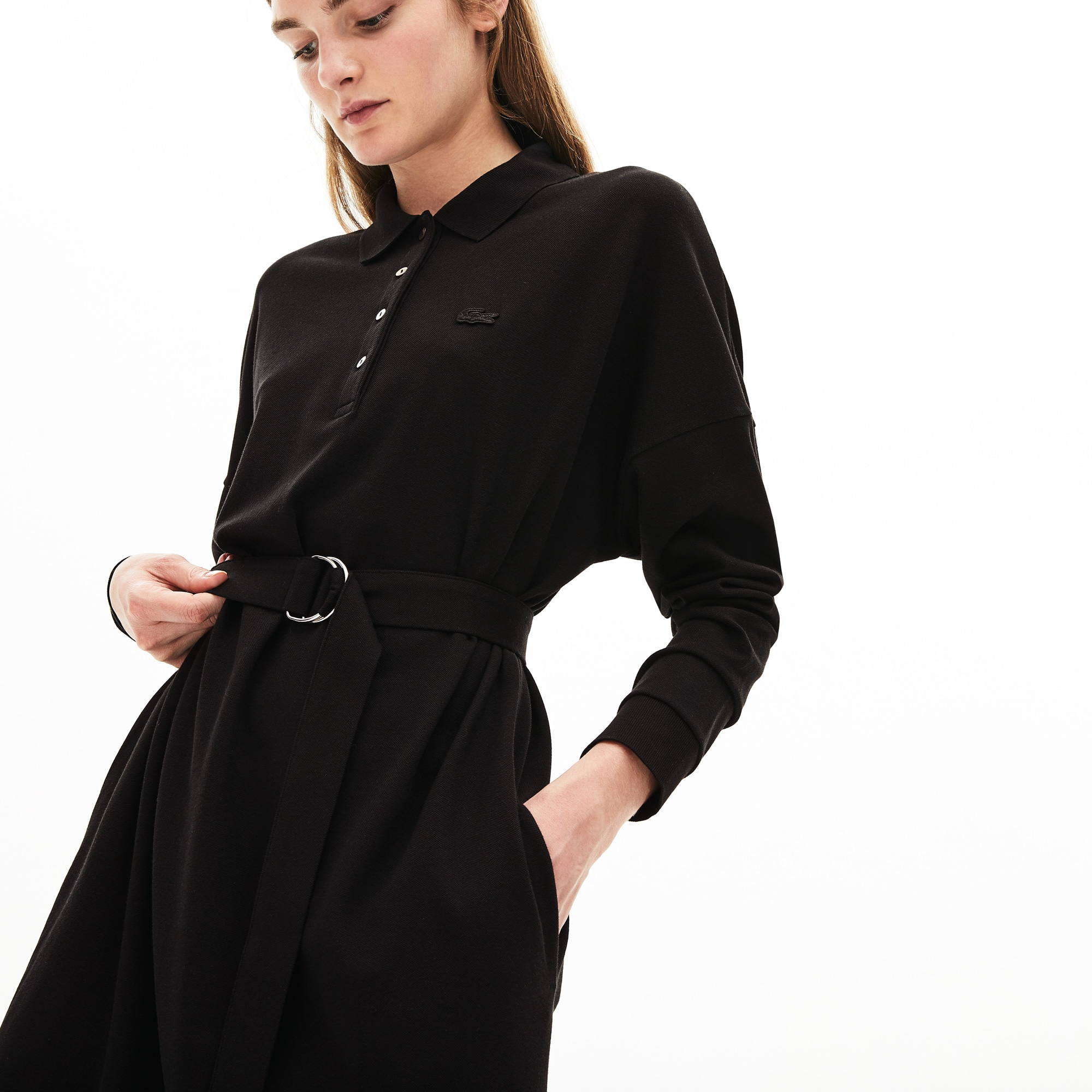 Women's Dolman-Sleeve Piqué Polo Dress