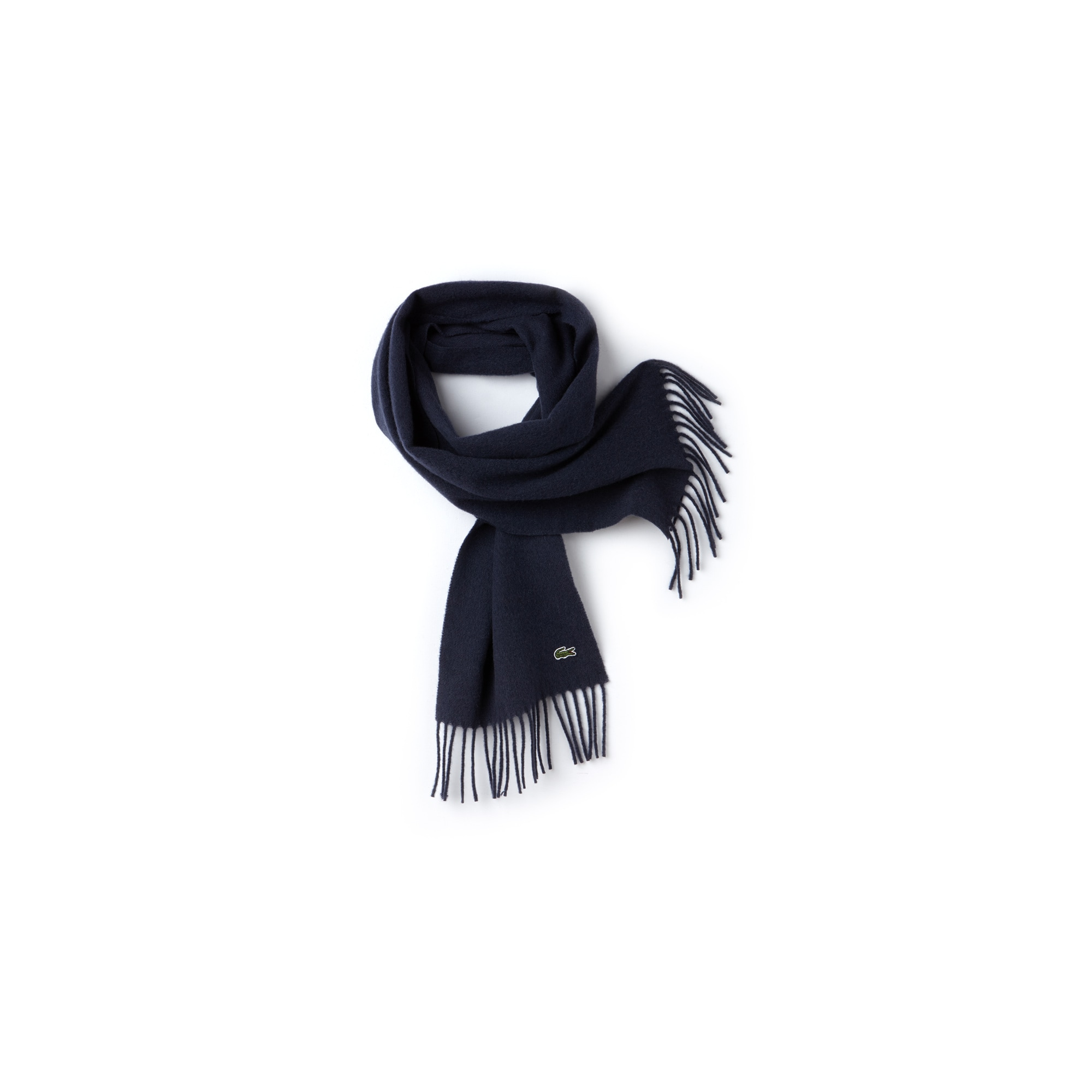 Men's Wool And Cashmere Flannel Fringe Scarf