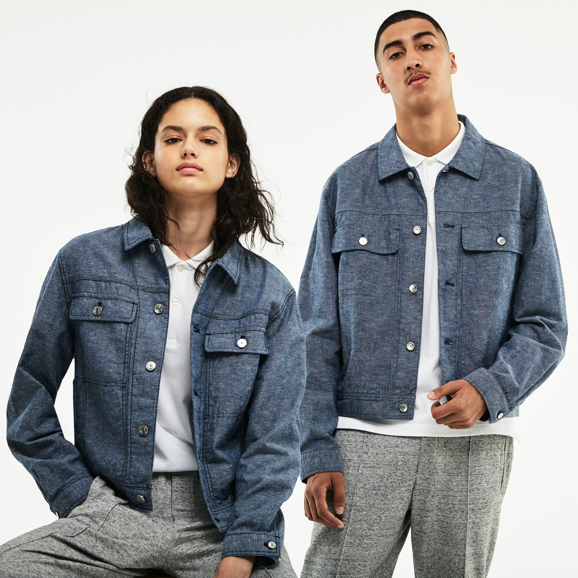 Unisex LIVE Denim Accents Chambray Jacket