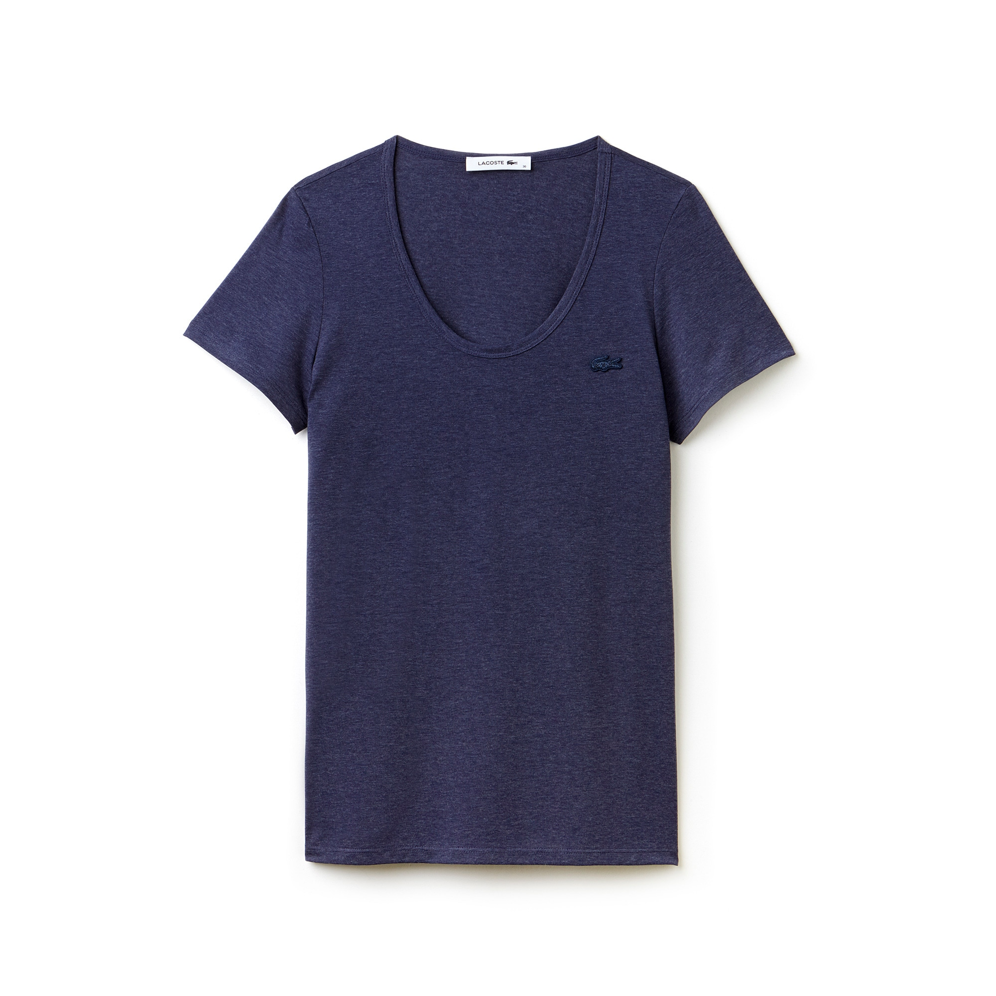 Women's Wide Neck Flowing Jersey Blend T-shirt
