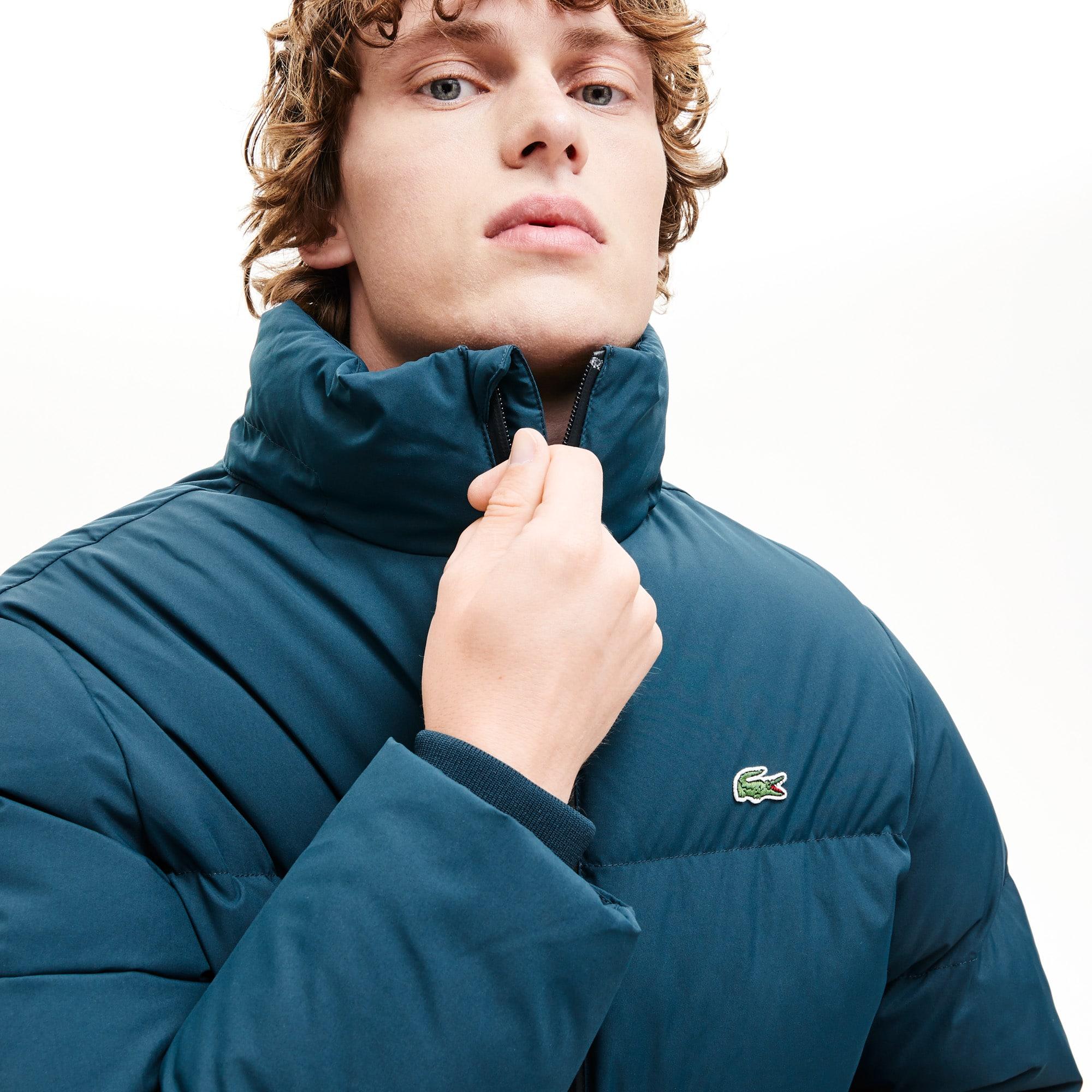 Lacoste Jackets Men's Detachable Hood Quilted Water-Resistant Taffeta Jacket