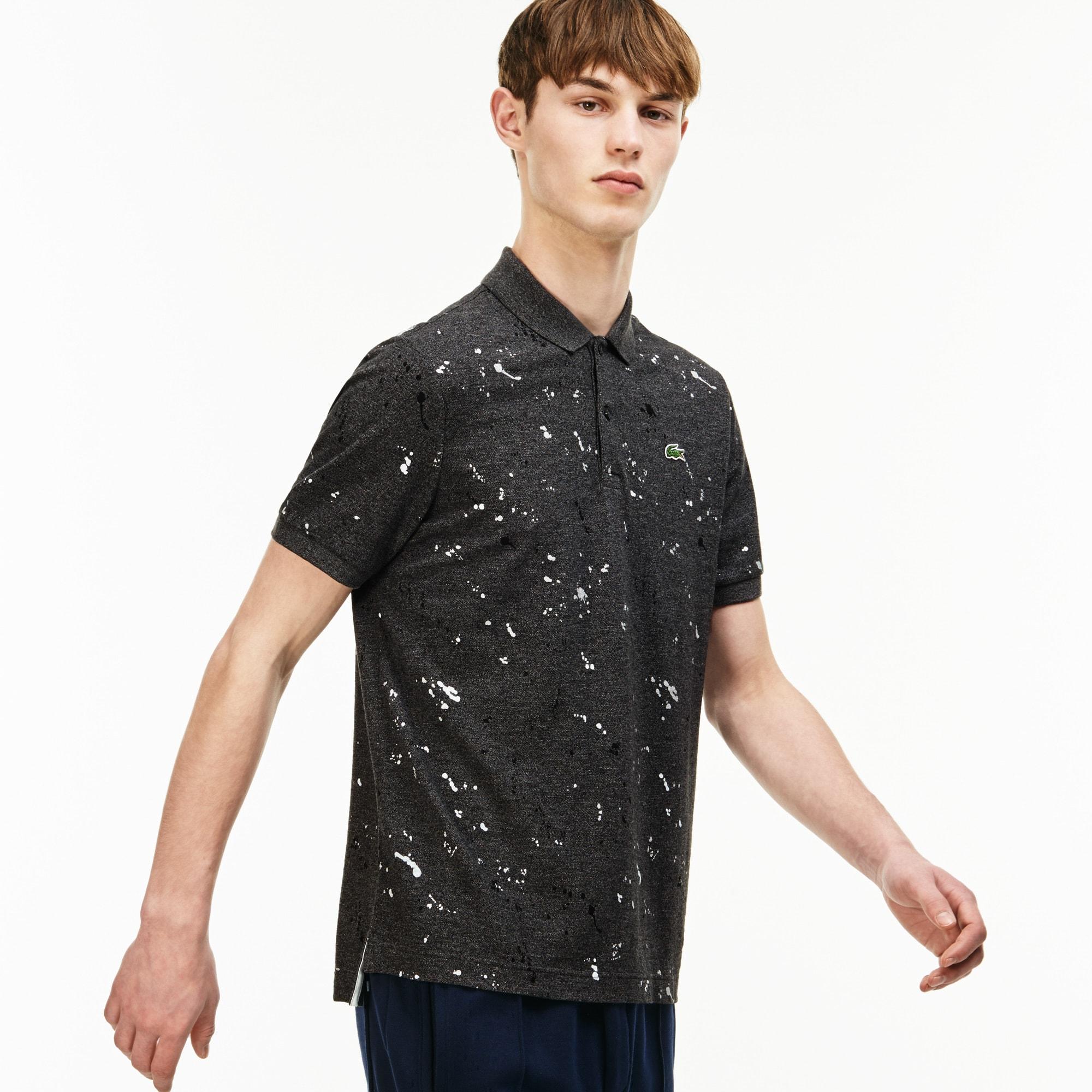 Men's  LIVE Regular Fit Speckled Print Mini Piqué Polo