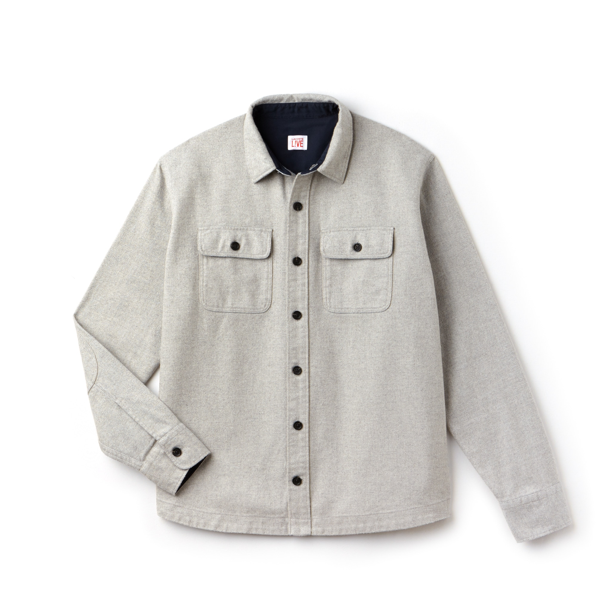 Men's LIVE Boxy Fit Cotton Flannel Shirt