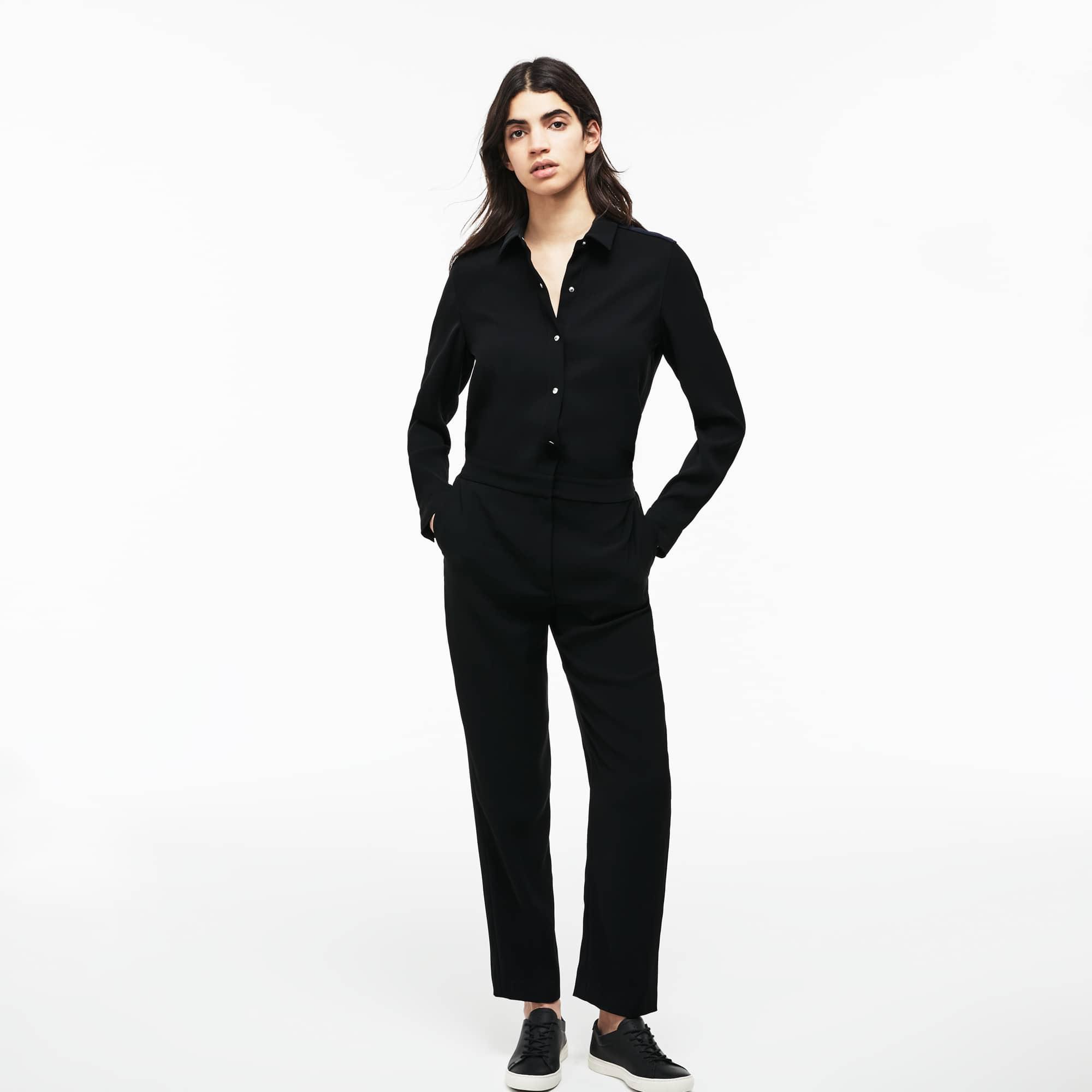 Women's Crepe Buttoned Jumpsuit