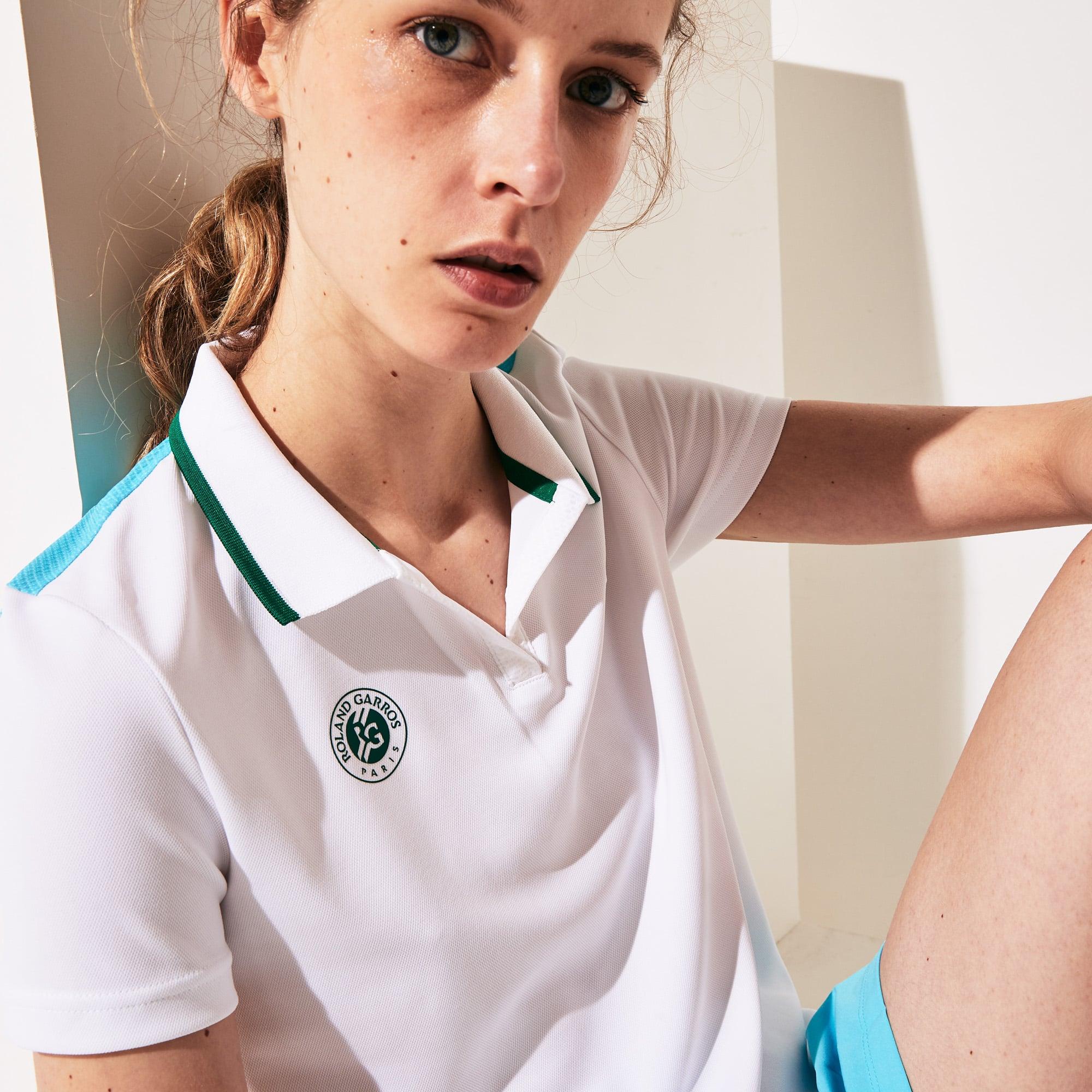 라코스테 스포츠 '롤랑가로스 에디션' 옴브레 폴로셔츠 Lacoste Womens SPORT Roland Garros Ombre-Print Polo Shirt