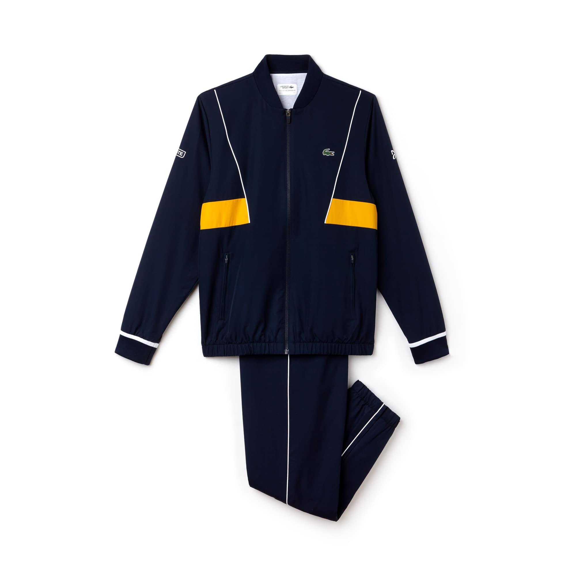 라코스테 스포츠 트랙 수트  Lacoste Mens SPORT Taffeta Tracksuit - Novak Djokovic Collection,navy blue/white-buttercup