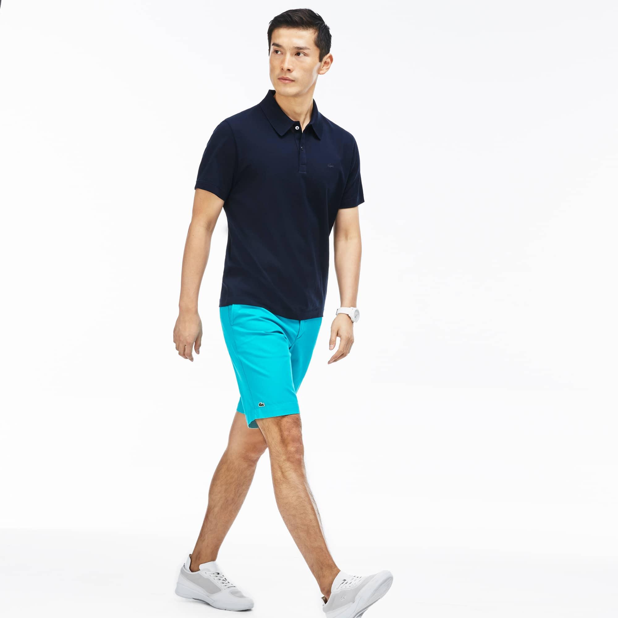 Men's  Gabardine Slim Fit Bermuda Shorts