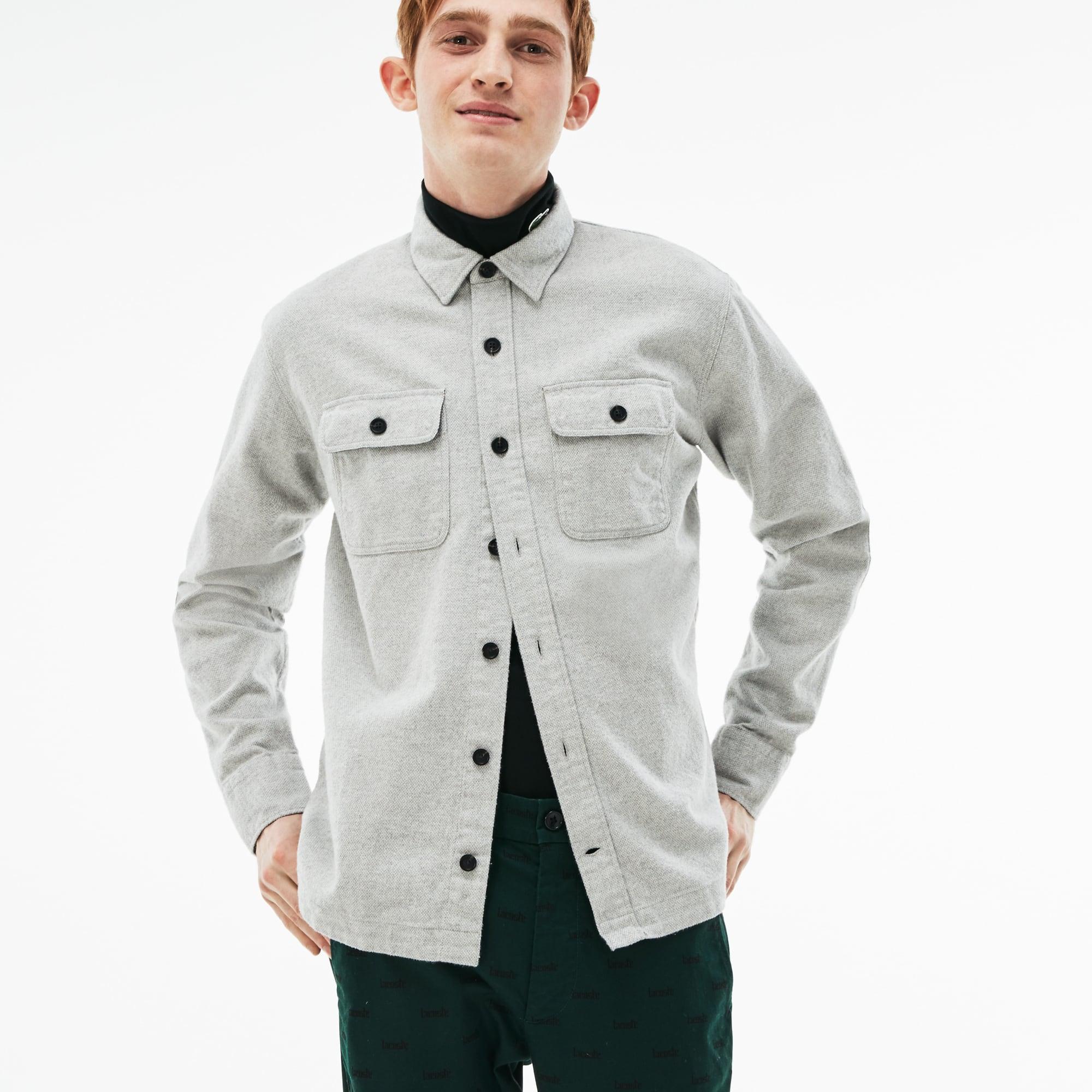 Men's LIVE Boxy Fit Cotton Flannel Shirt
