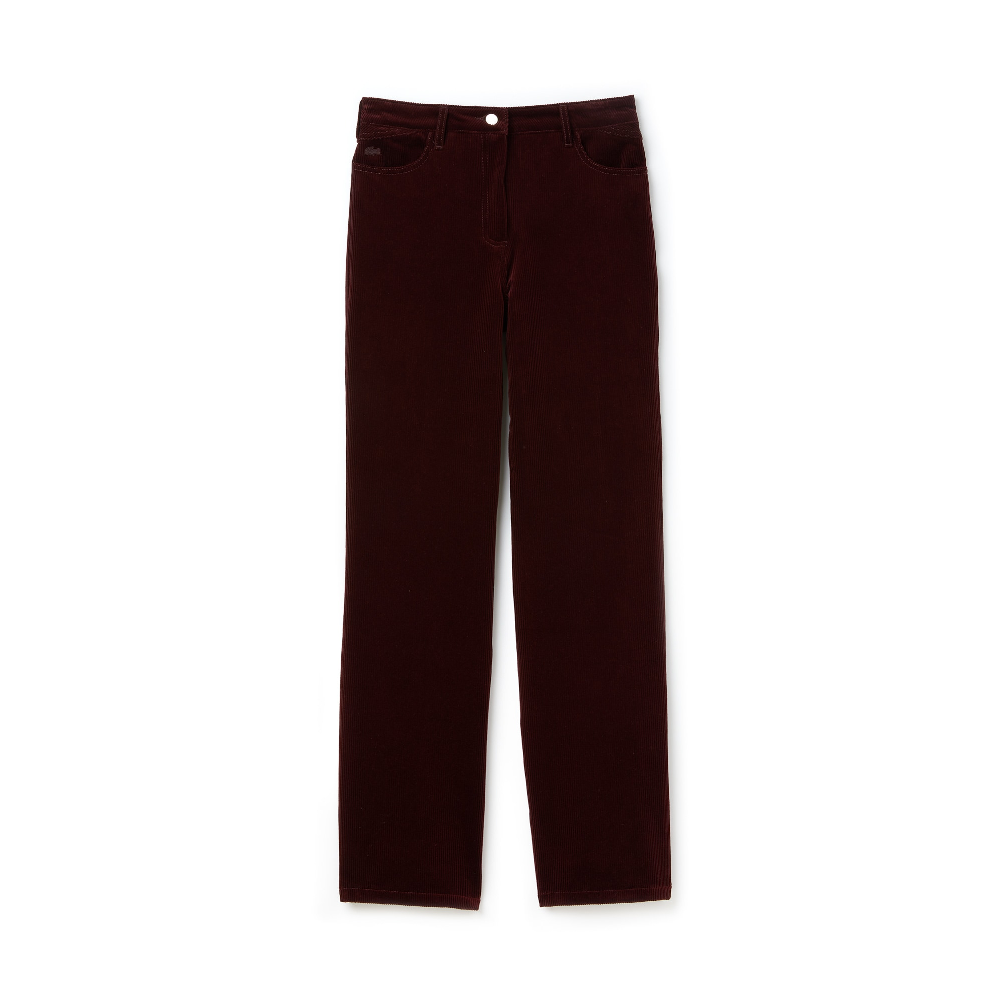 Women's Boxy Fit Striped Cotton Velour Pants