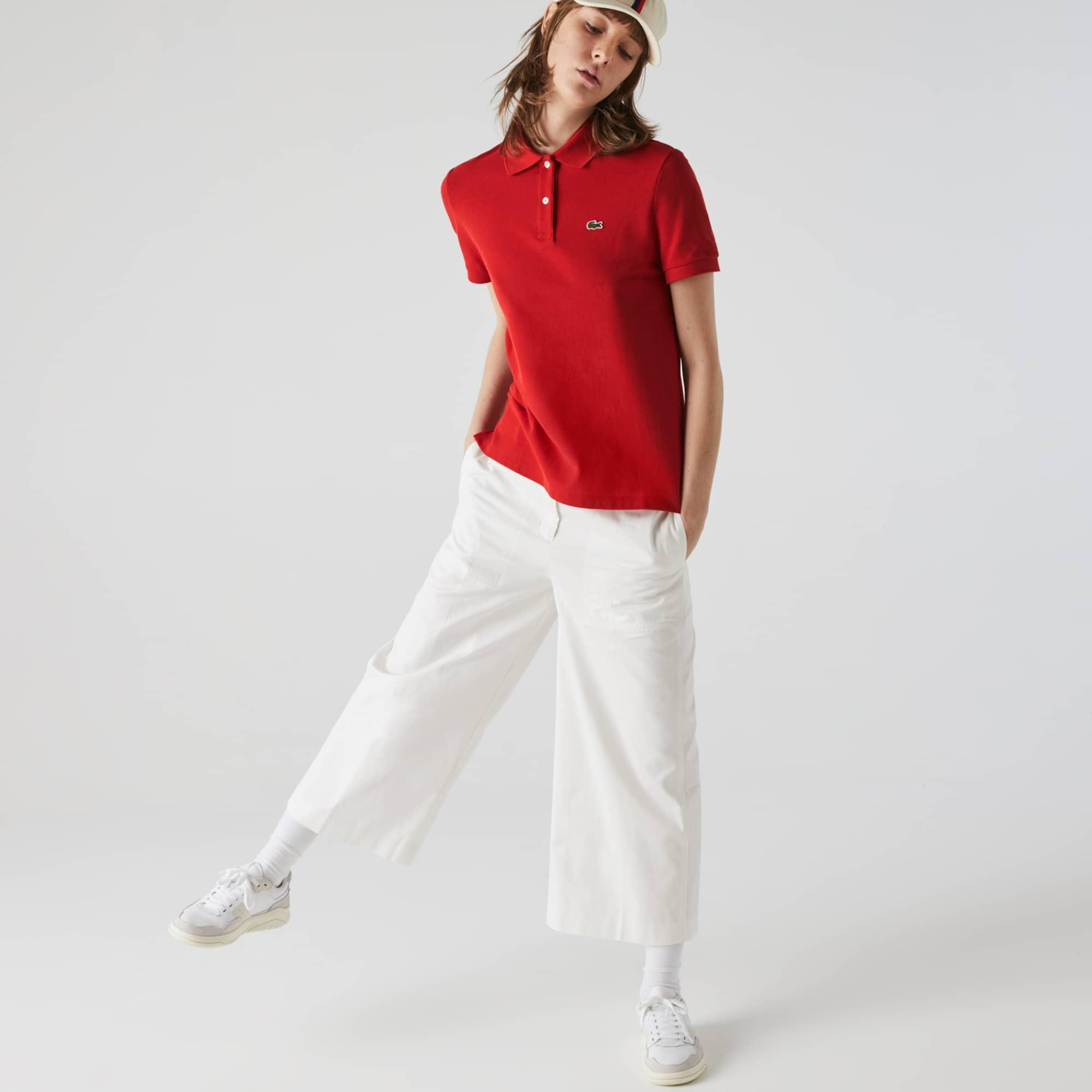 라코스테 우먼 피케 폴로 Lacoste Womens Classic Fit Soft Cotton Petit Pique Polo