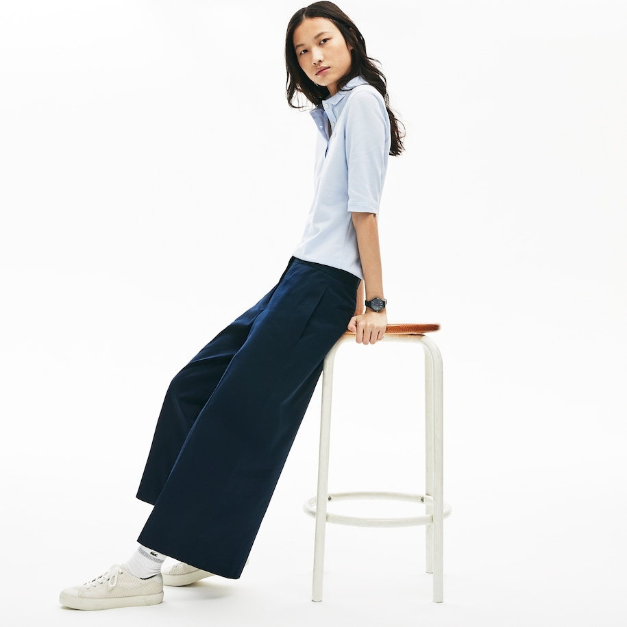 Women's Wide Cropped Cotton Pants