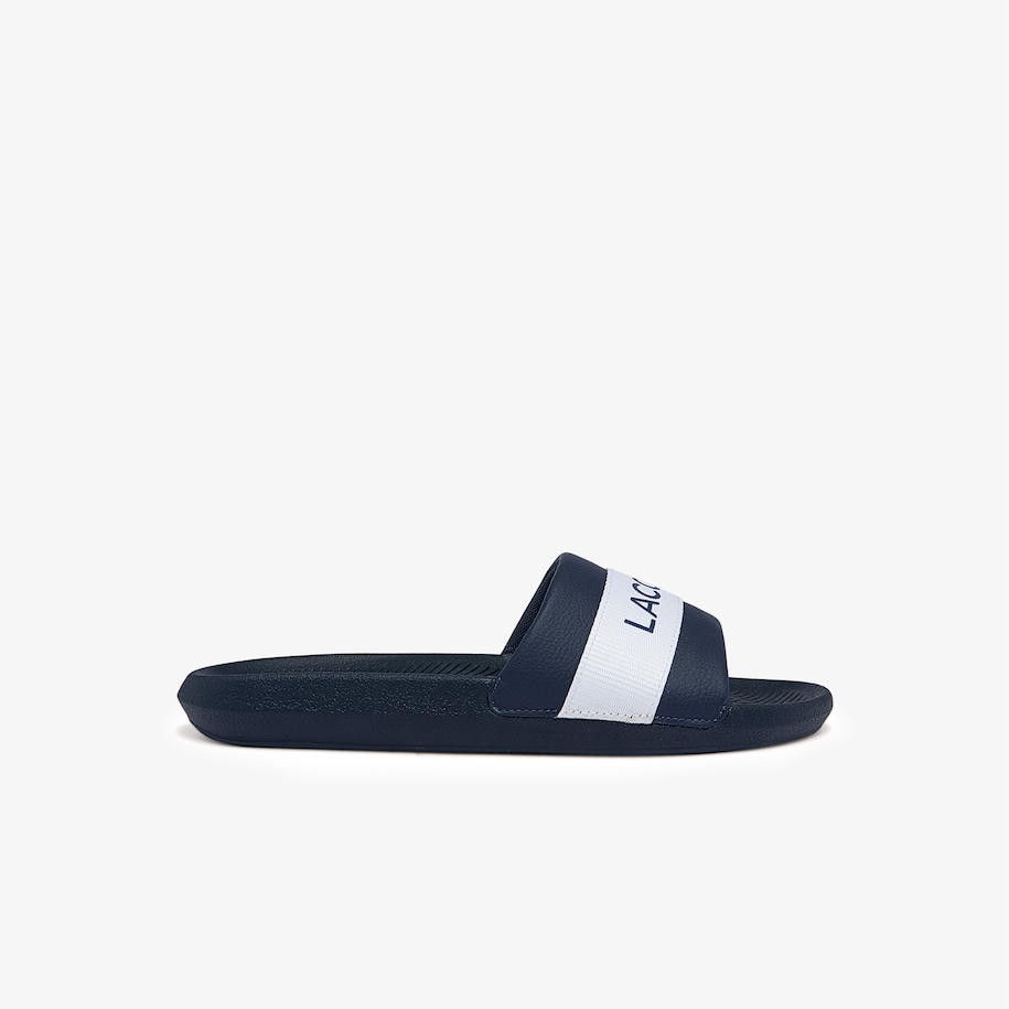Men's Croco Textile Logo Slides