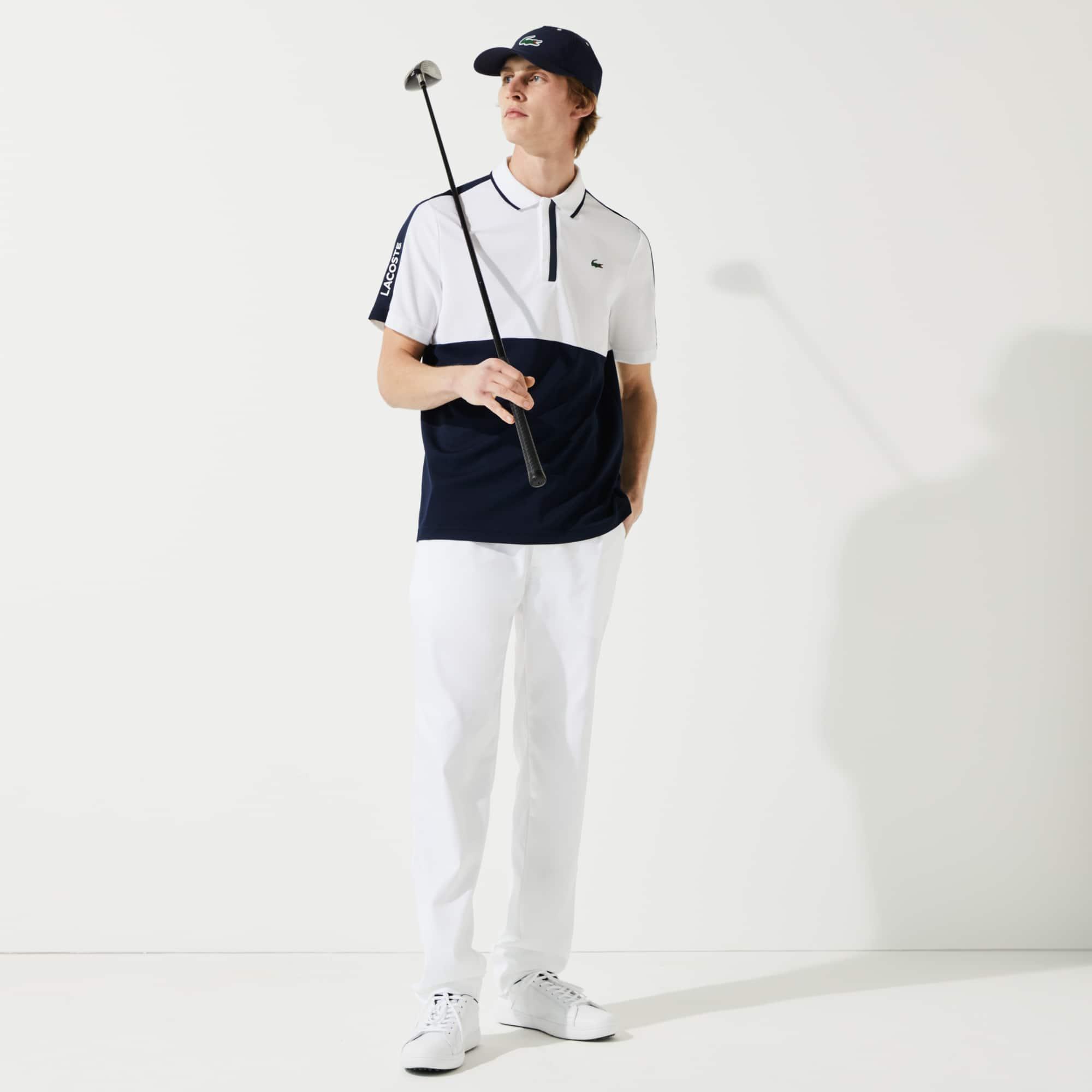 라코스테 Lacoste Men's SPORT Breathable Honeycomb-Knit Golf Polo Shirt