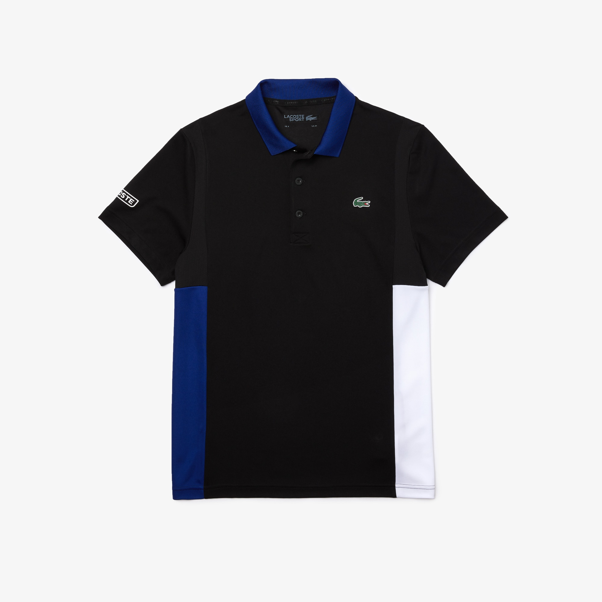 Mens 라코스테 Lacoste SPORT Colourblock Mesh Breathable Pique Tennis Polo Shirt