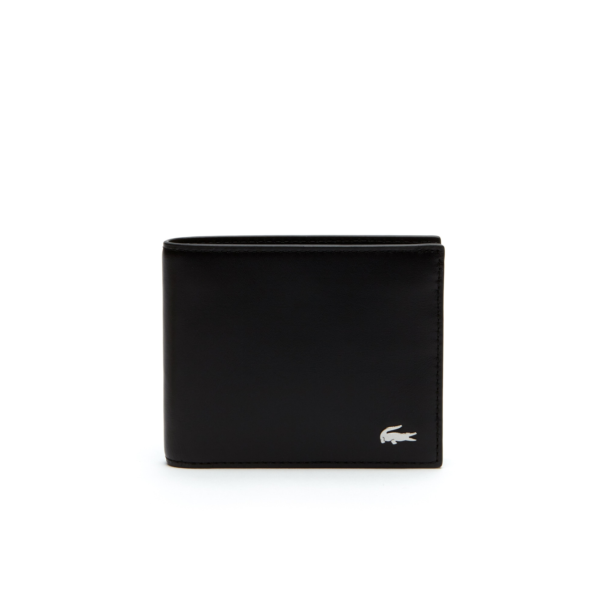 라코스테 반지갑 Lacoste Mens Fitzgerald Leather Wallet And Key Chain Set,black