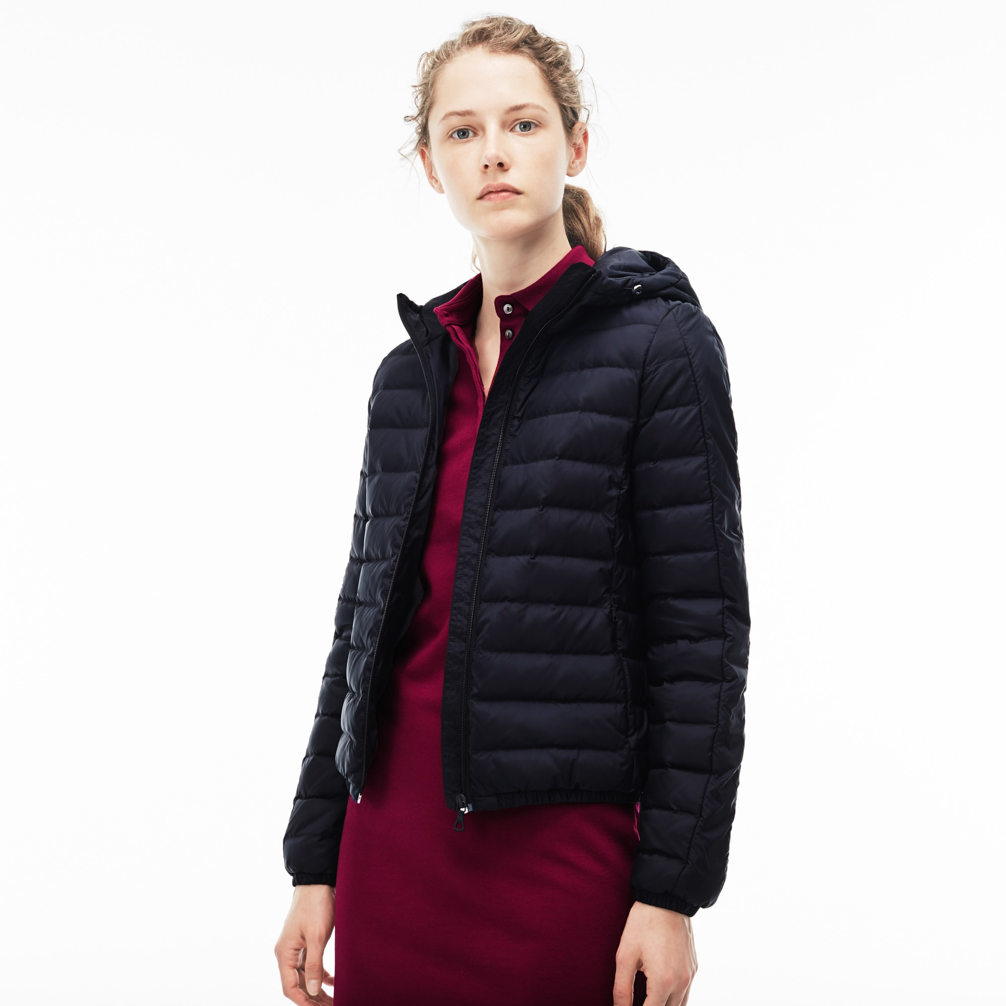 Women's Hooded Quilted Taffeta Down Jacket
