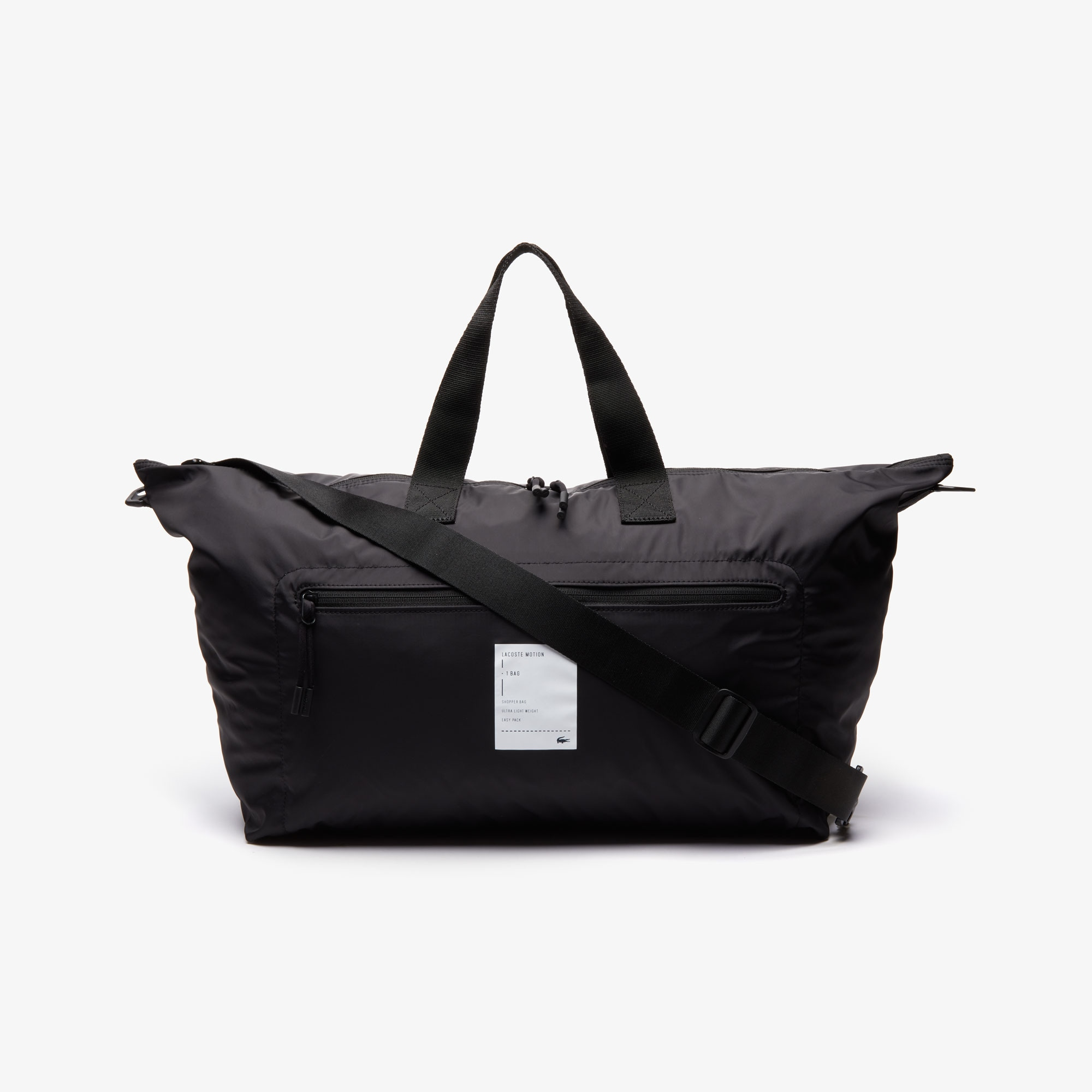라코스테 모션 토트백 Lacoste Motion Large Collapsible Tote Bag,BLACK