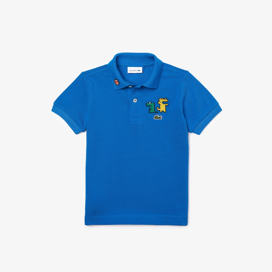 Boys' Fun Crocodiles Cotton Piqué Polo