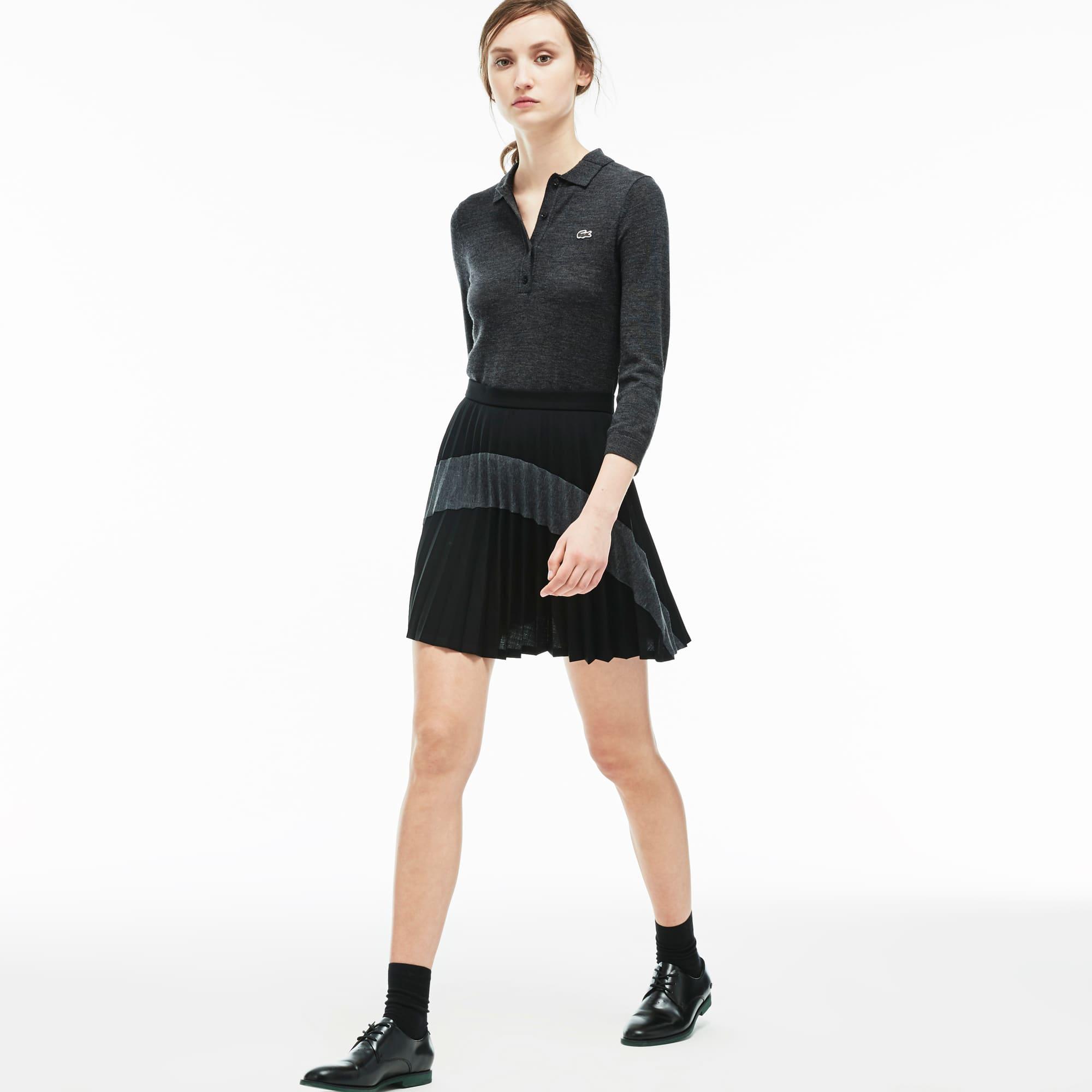 Women's Color Block Pleated Skirt