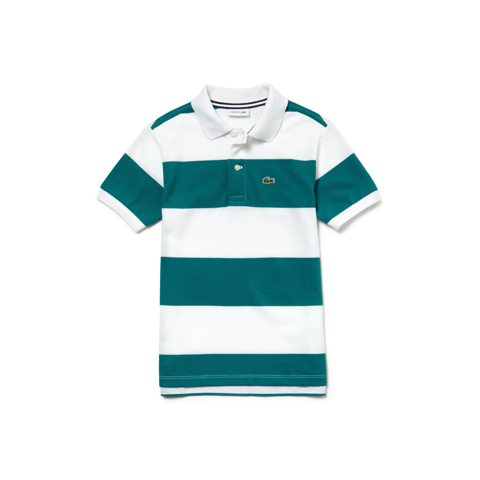Boys' Lacoste Striped Cotton Petit Piqué Polo