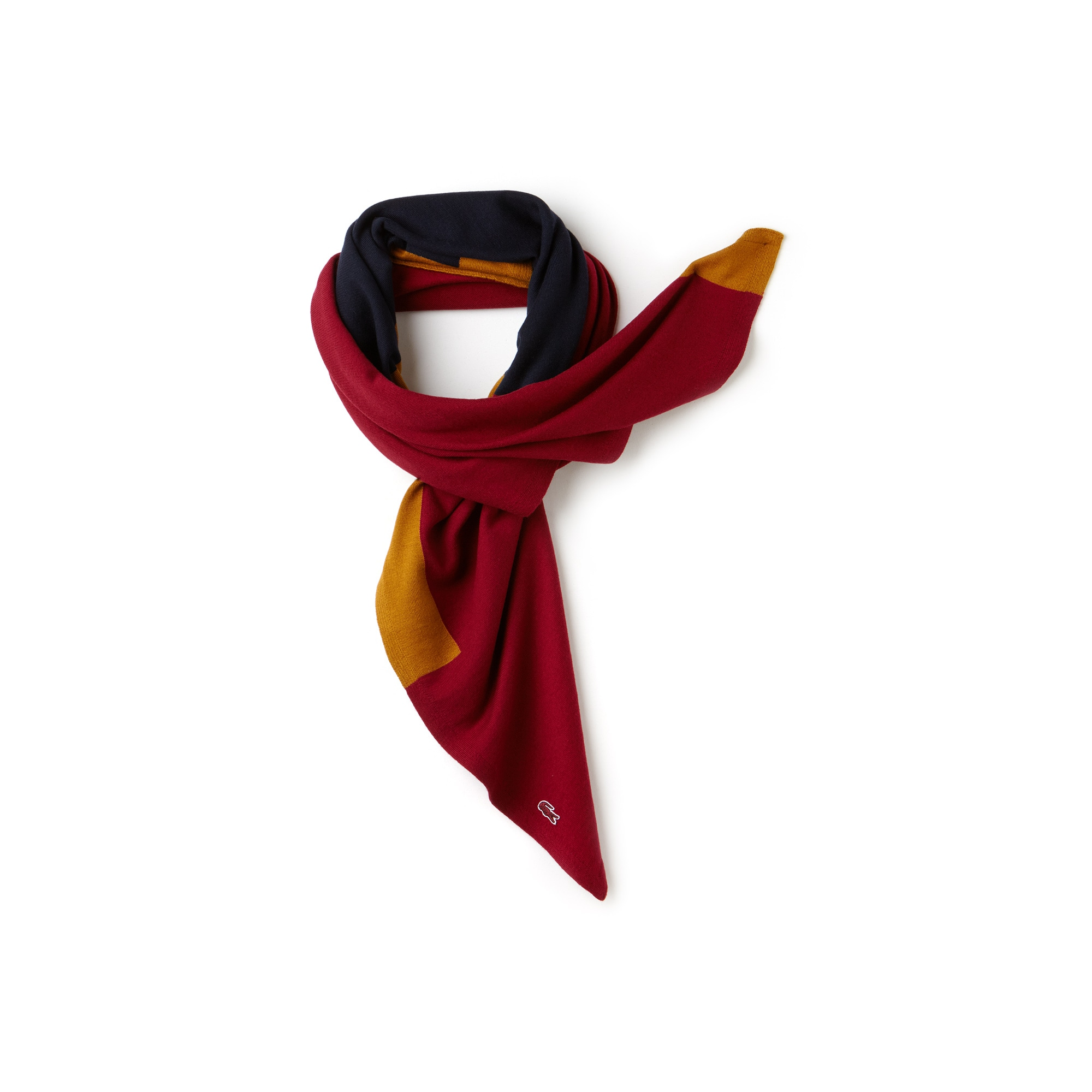 Women's Made In France Square Colorblock Wool And Cotton Scarf