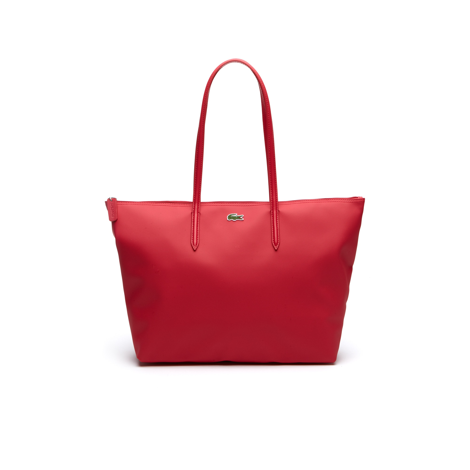 라코스테 Lacoste Womens L.12.12 Concept Zip Tote Bag,virtual pink