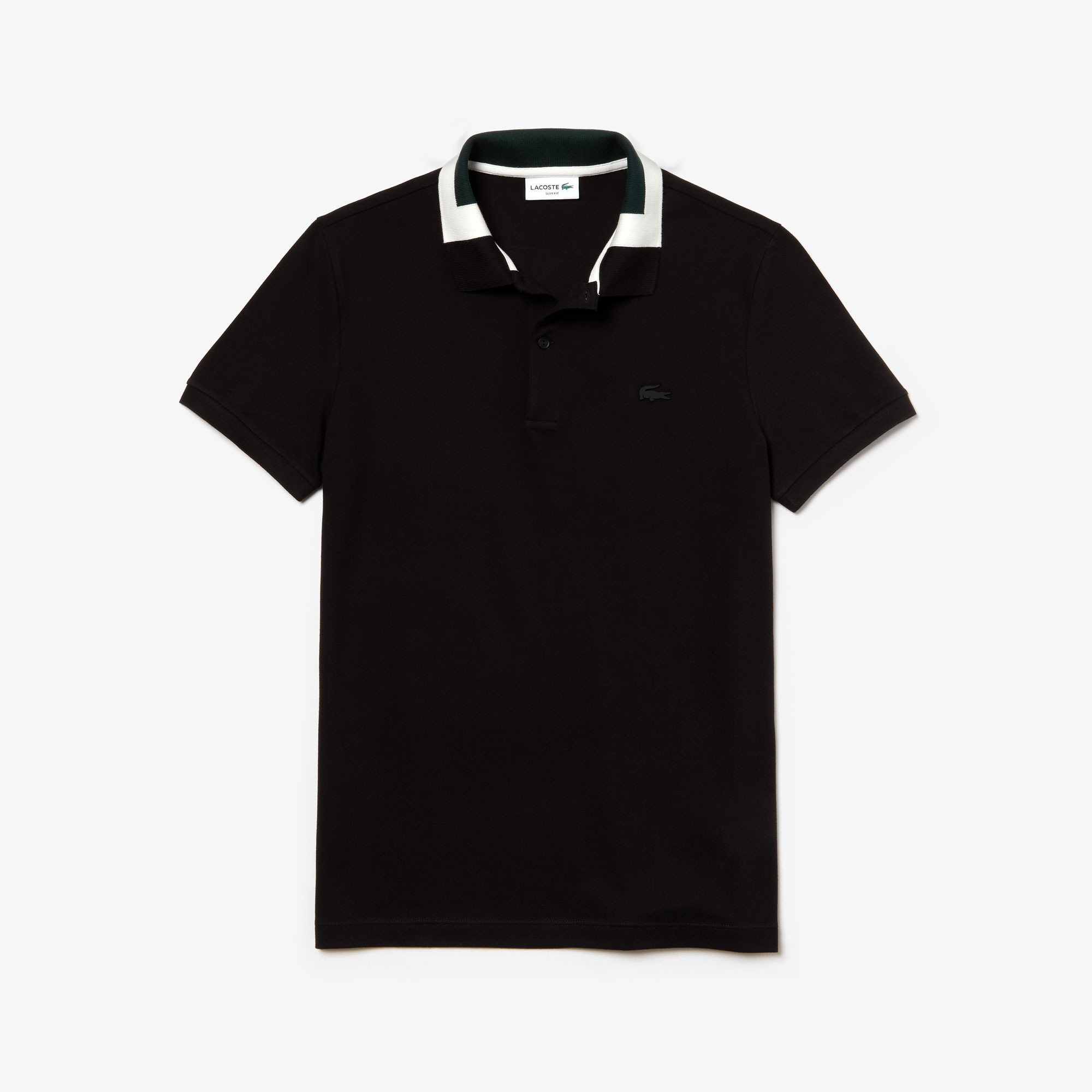 Men's Slim Fit Color-Block Collar Cotton Piqué Polo