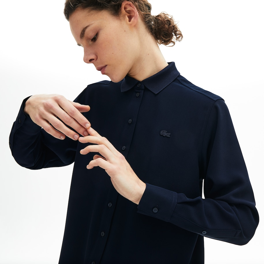 Blusa relaxed fit fluida para mujer