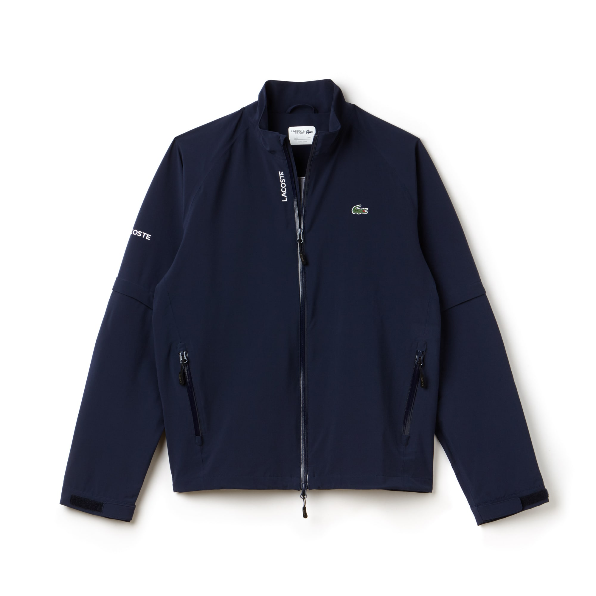 Men's SPORT Zippered Technical Golf Rain Jacket | LACOSTE