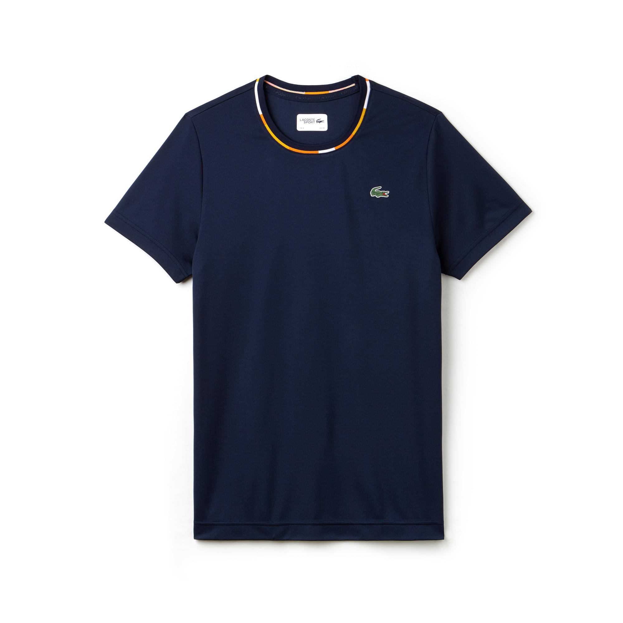 Men's SPORT Jacquard Accents Tech Piqué Tennis T-shirt
