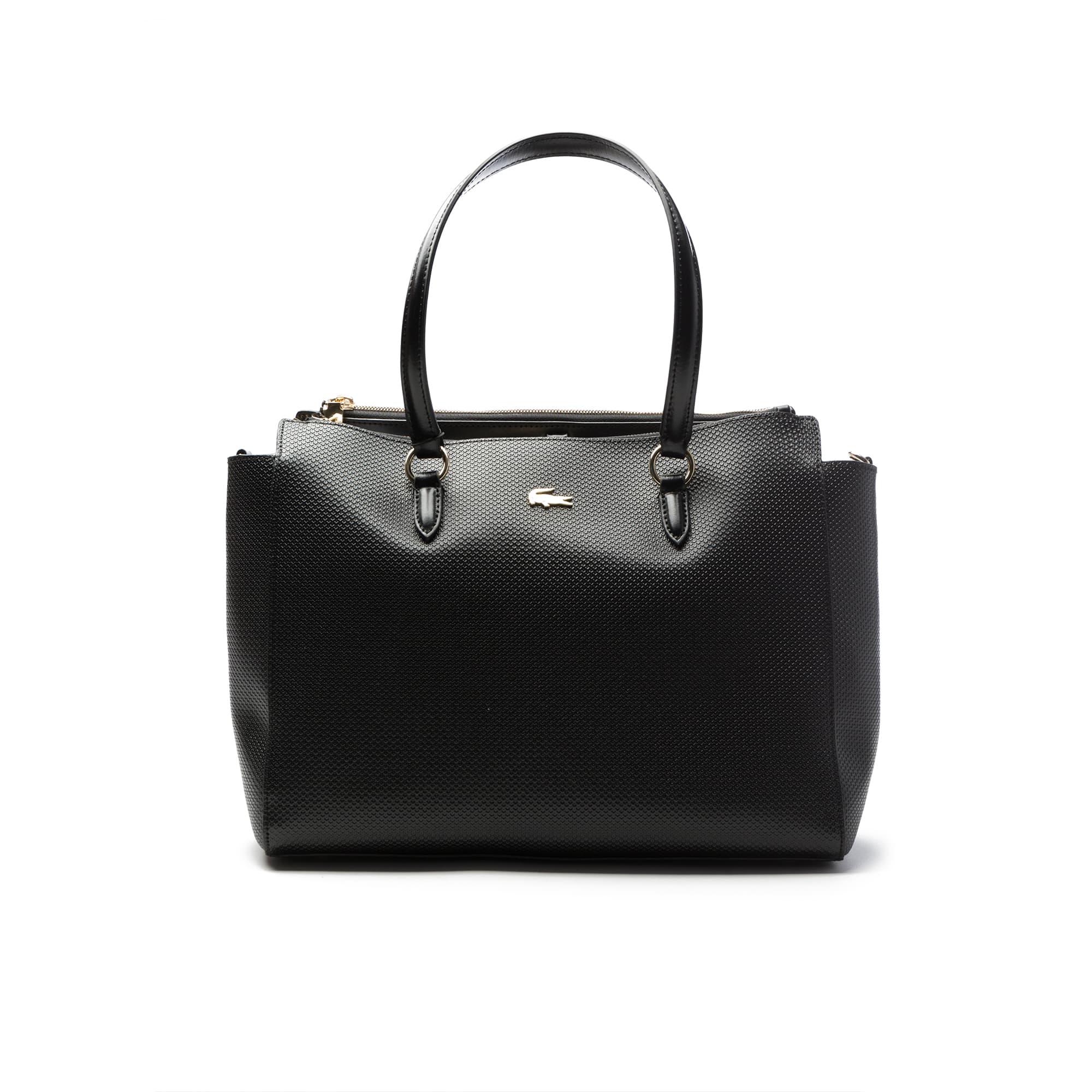 Women's Chantaco Gusseted Fine Piqué Leather Double Zip Tote Bag