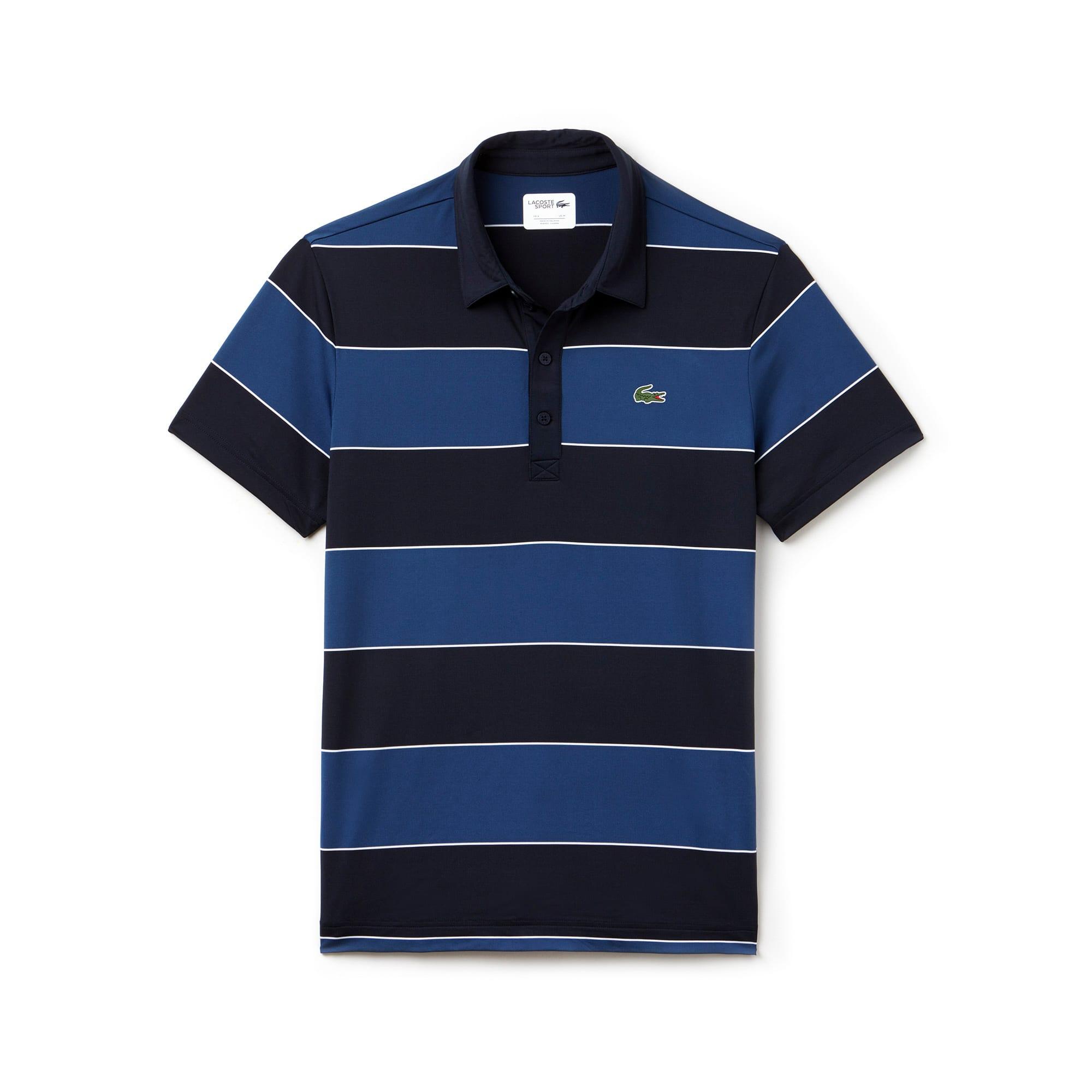 Men's Golf Stretch Ultra-Dry Stripe Polo Shirt