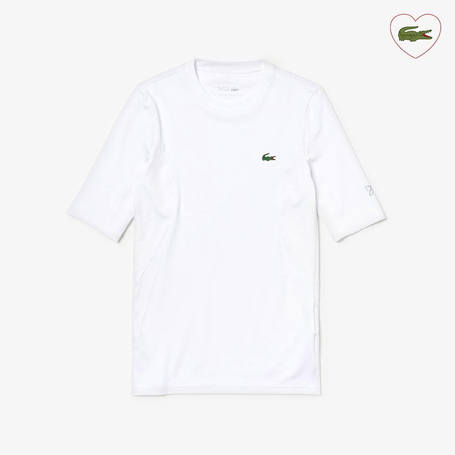 Men S Sport Novak Djokovic Ultra Dry Stretch Jersey T Shirt Lacoste