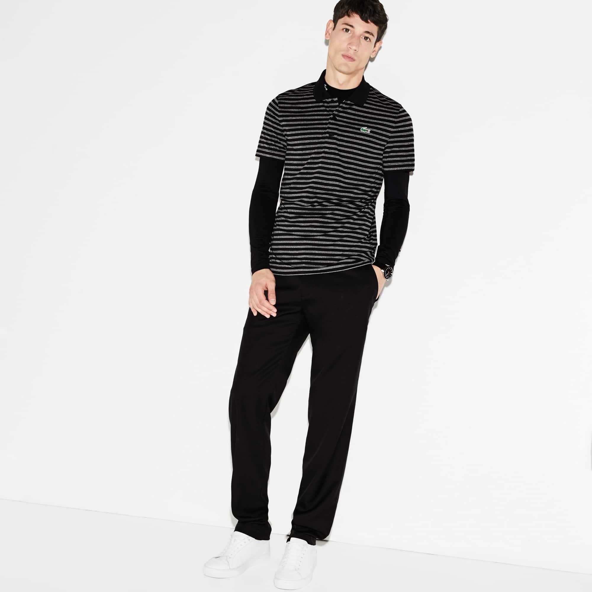 Men's SPORT Striped Technical Golf Polo