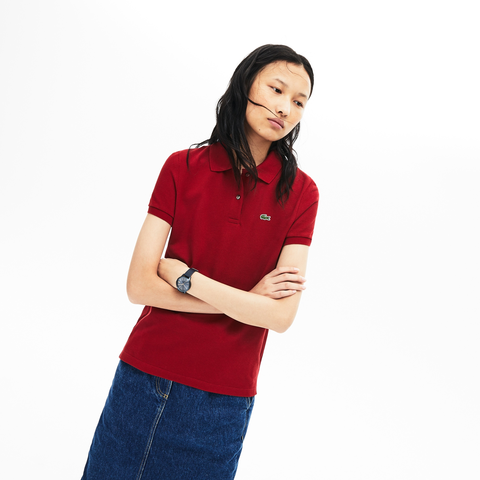 Women's Classic Fit Soft Cotton Petit Piqué Polo Shirt
