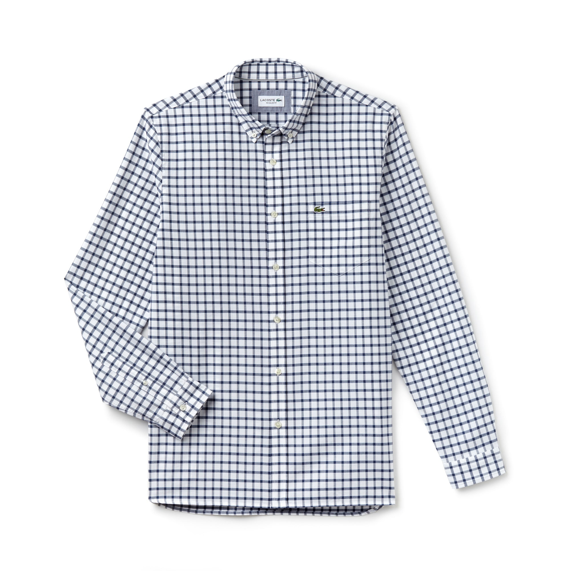 Men's Regular Fit Check Oxford Shirt