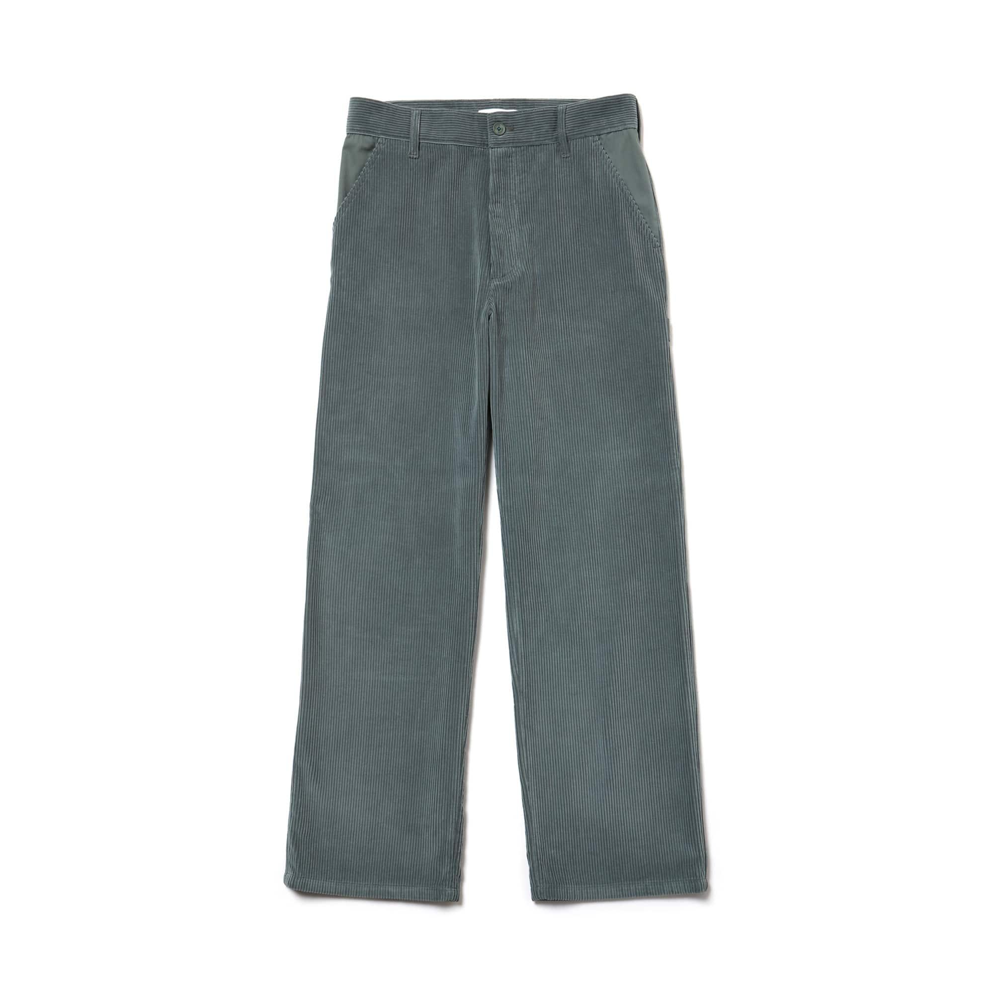 Men's Fashion Show Boxy Fit Ribbed Italian Velour Pants