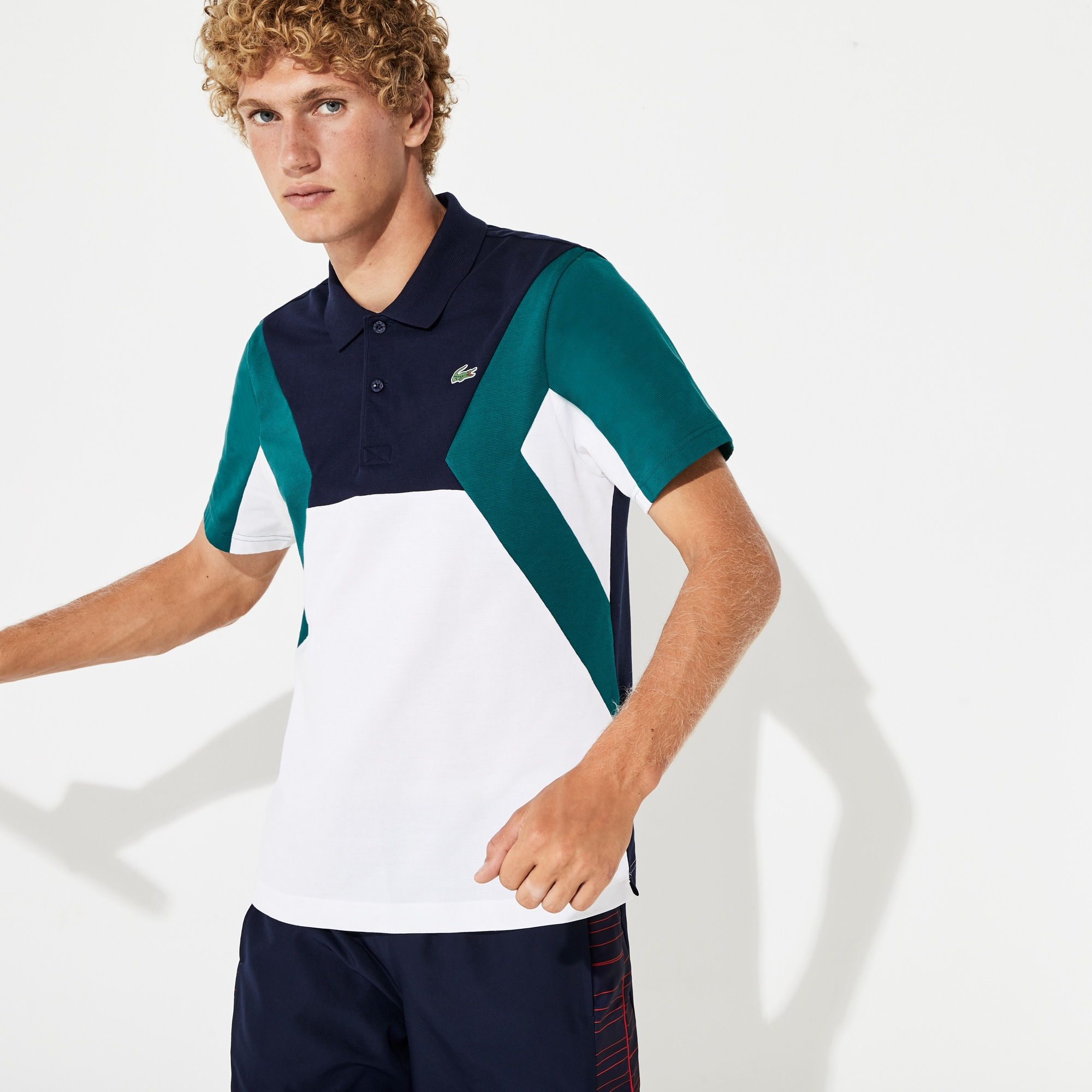 Men's SPORT Ultra-Lightweight Color-Blocked Cotton Tennis Polo Shirt