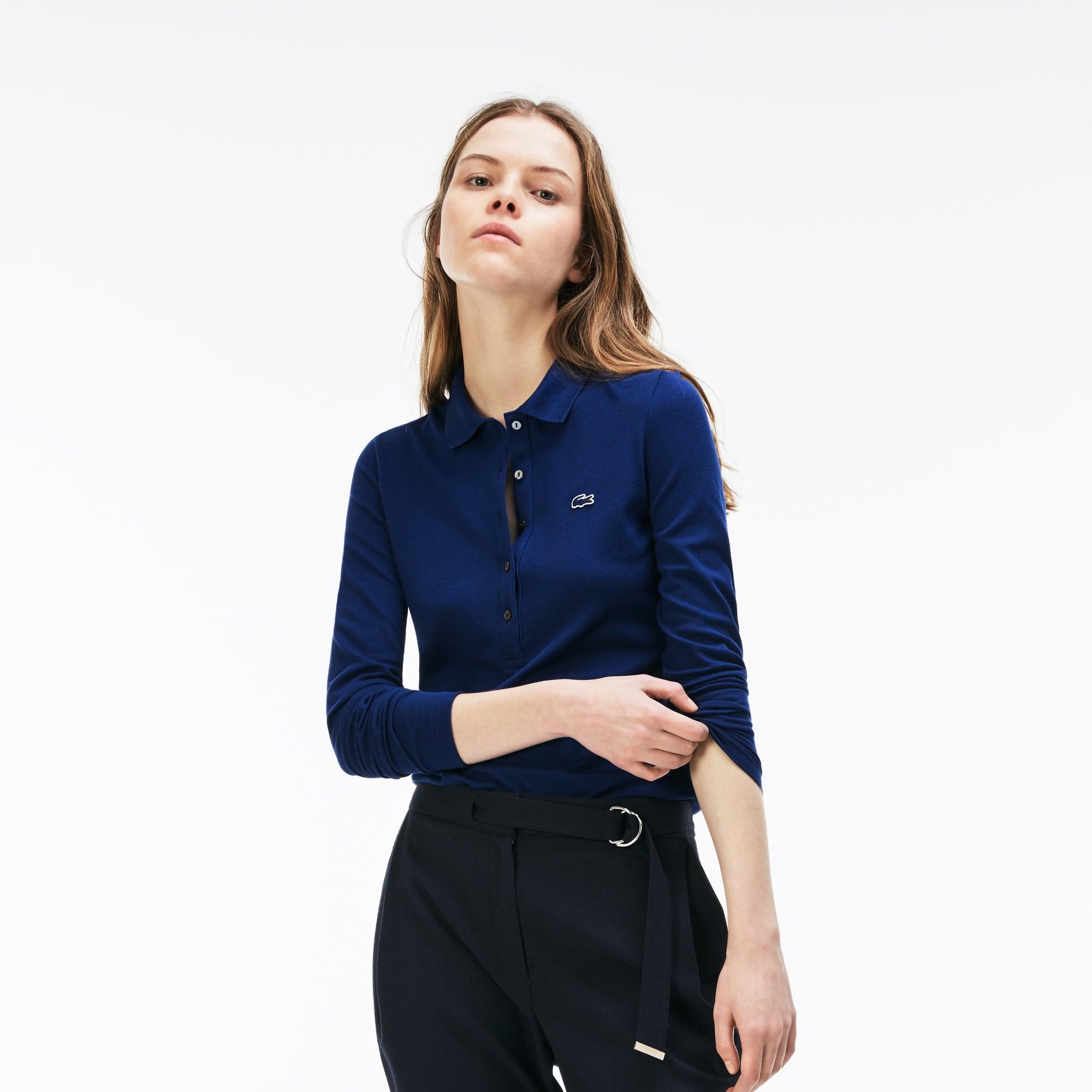 Women's  Slim Fit Stretch Mini Piqué Polo