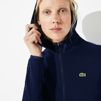 라코스테 Lacoste Womens SPORT Pique Zip Tennis Sweatshirt