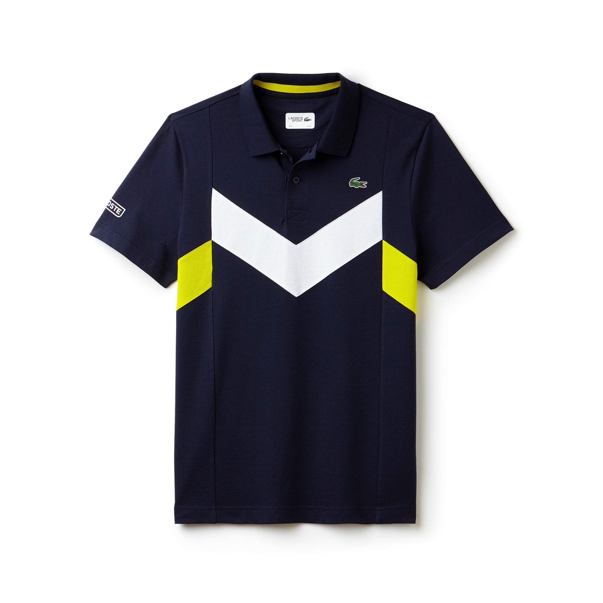 Men's  SPORT Tennis Ultra-Lightweight Colorblock Knit Polo