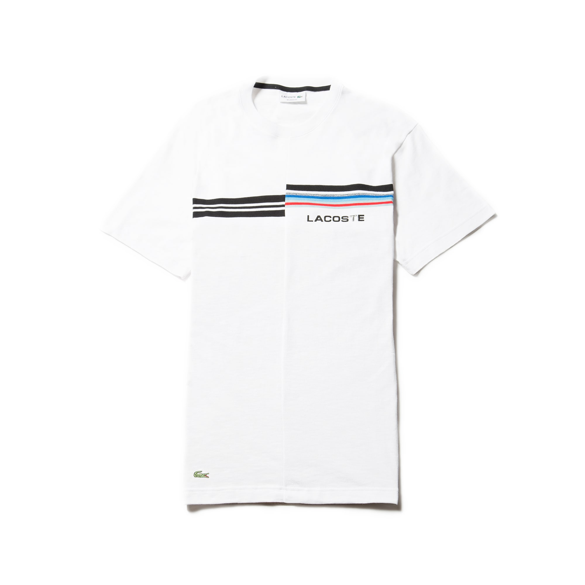 09720ca5c7 Men's 3D Lacoste Branding and Print Jersey Crew Neck T-shirt | LACOSTE