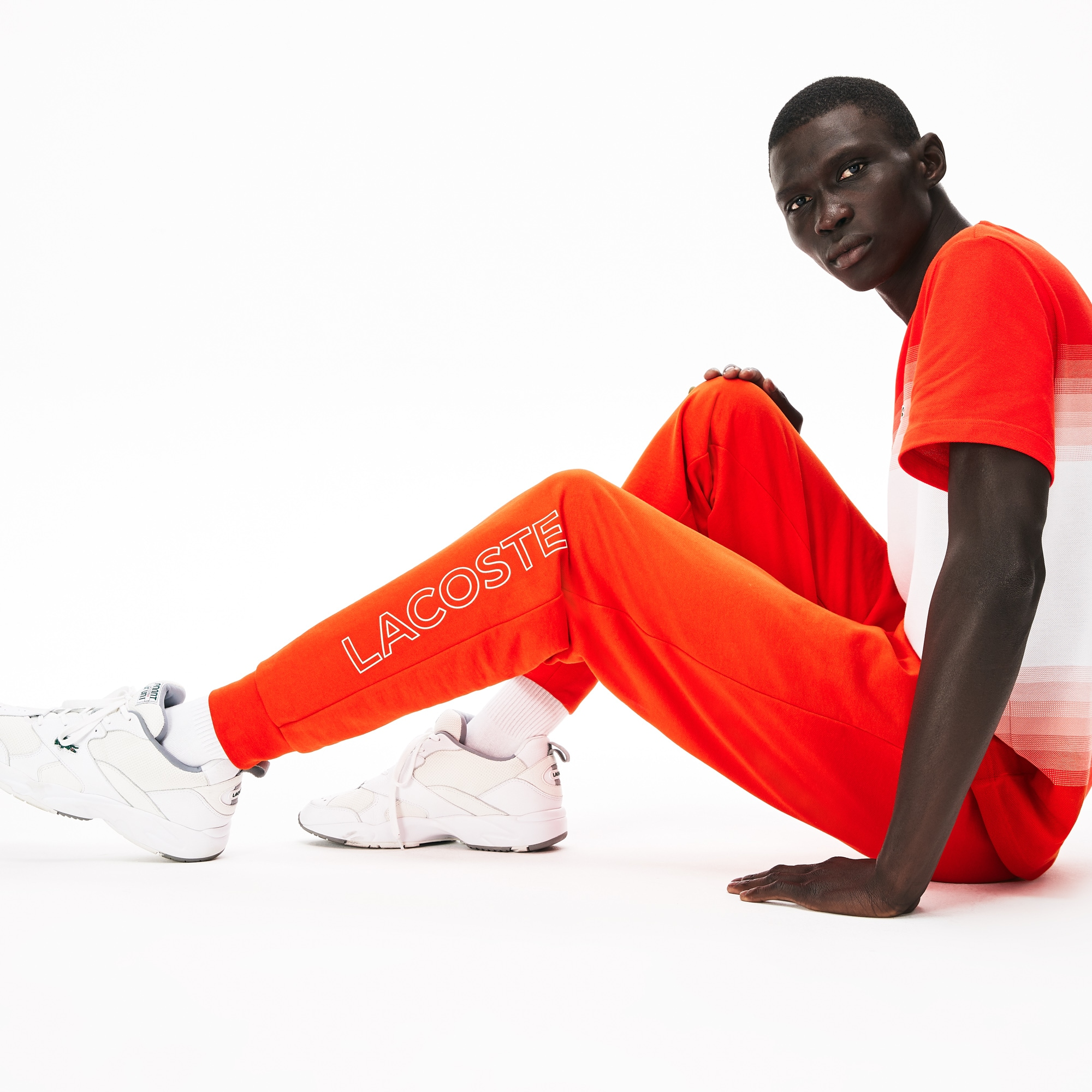 라코스테 Lacoste Men's Motion French Terry Track Pants,Red S5H