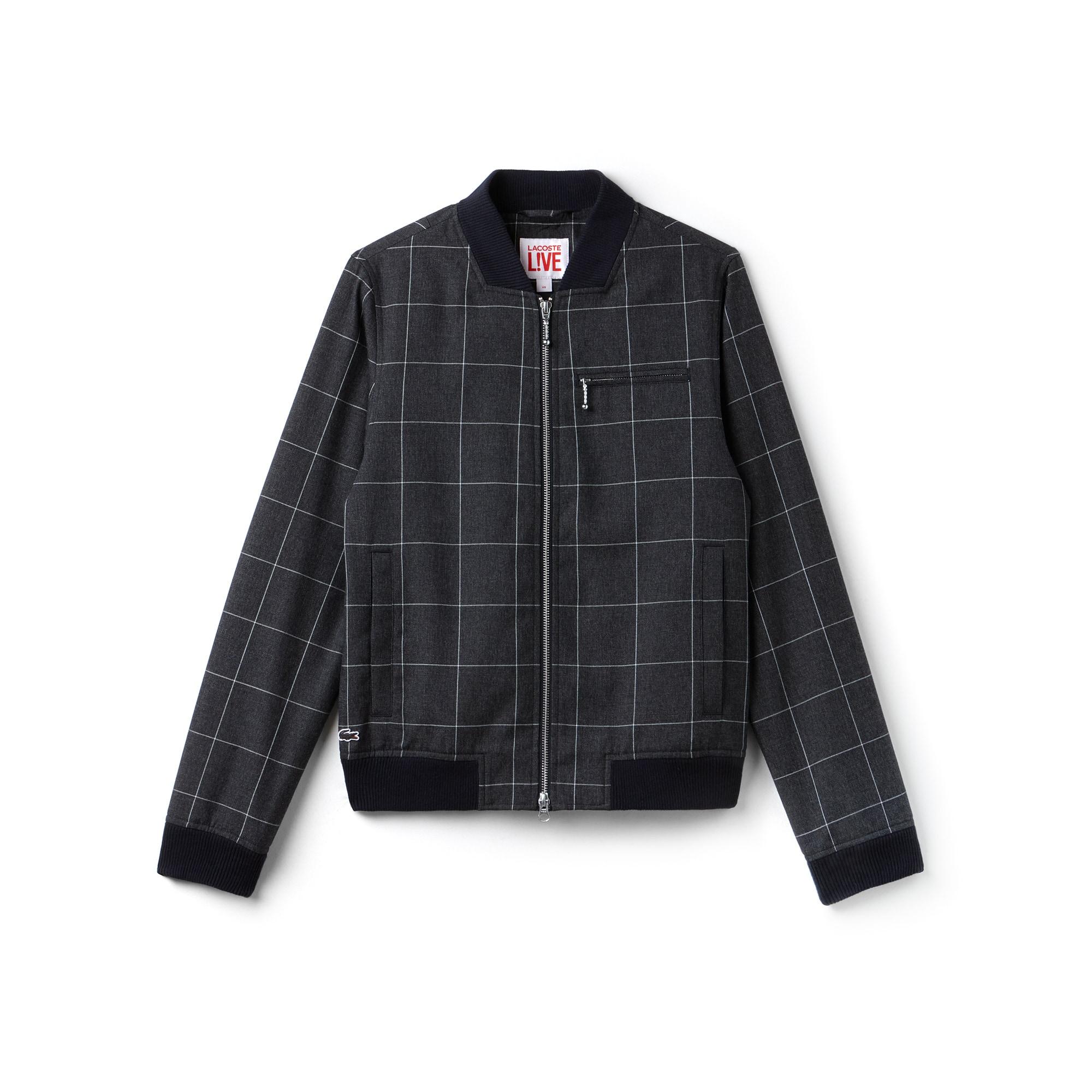 Unisex LIVE Check Flannel Bomber Jacket