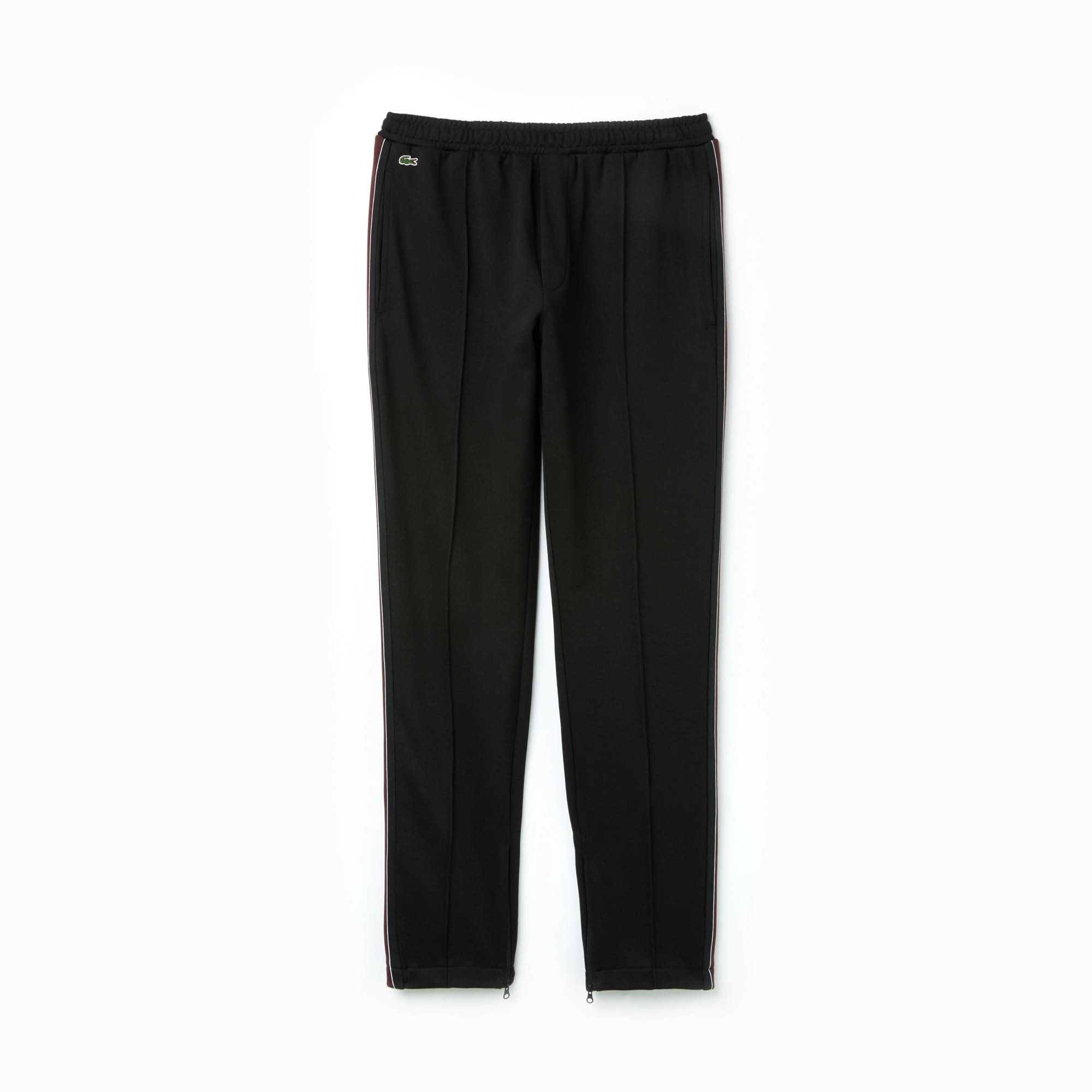 Men's LIVE Contrast Bands Pleated Fleece Jogging Pants