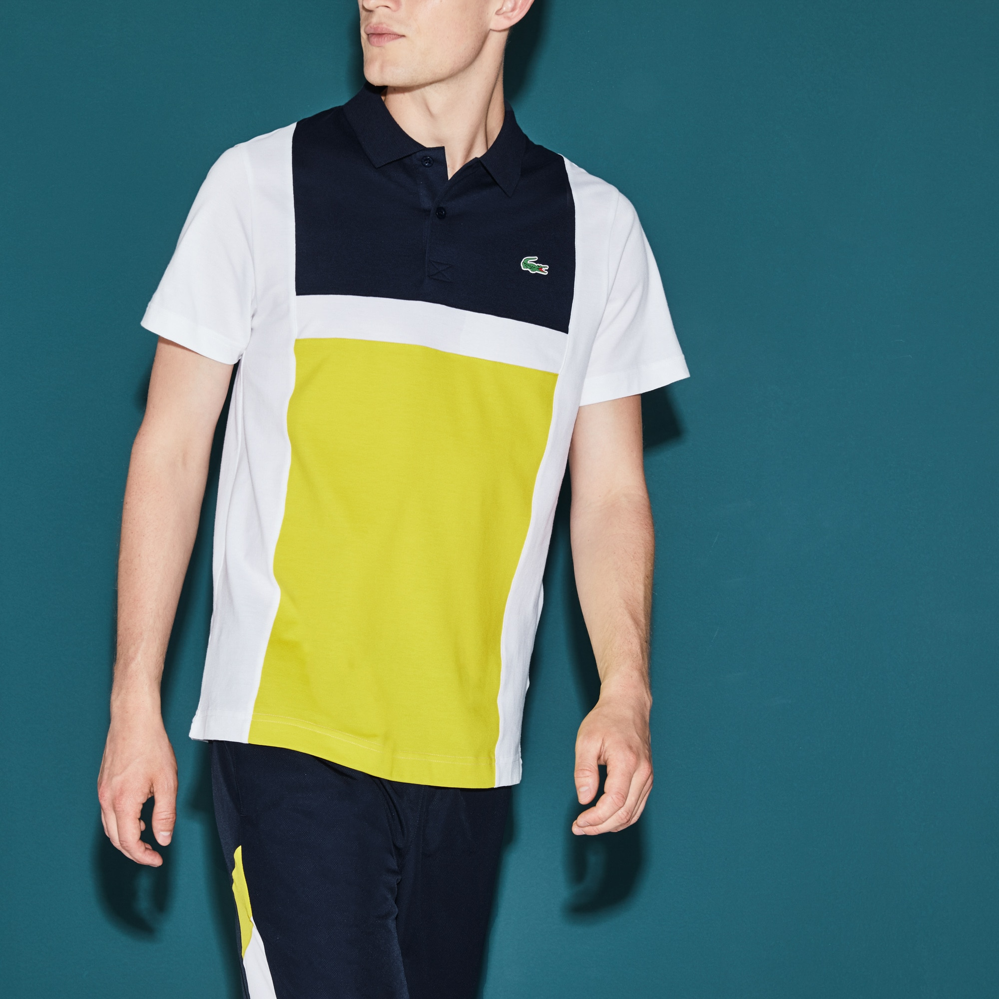 Men's  SPORT Tennis Colorblock Ultra-Light Cotton Polo