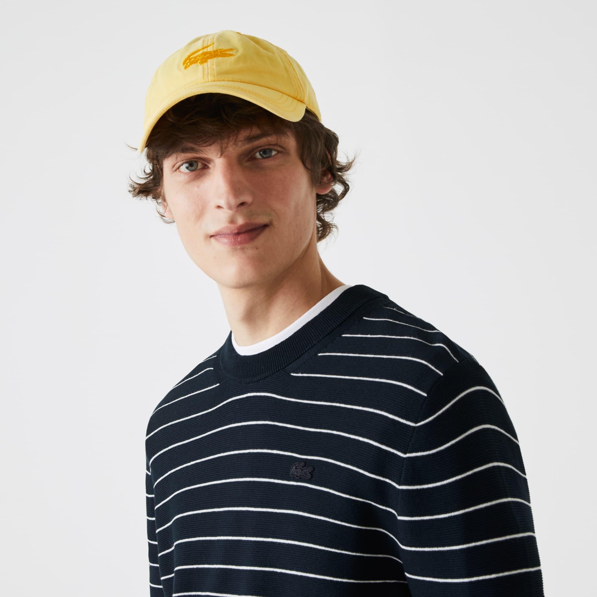 라코스테 Lacoste Men's Striped Organic Cotton Sweater