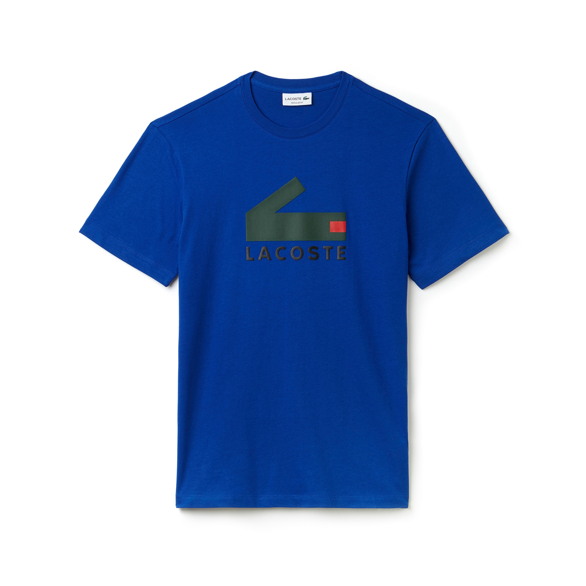 Men's Crew Neck Graphic Crocodile Branding Cotton Jersey T-shirt
