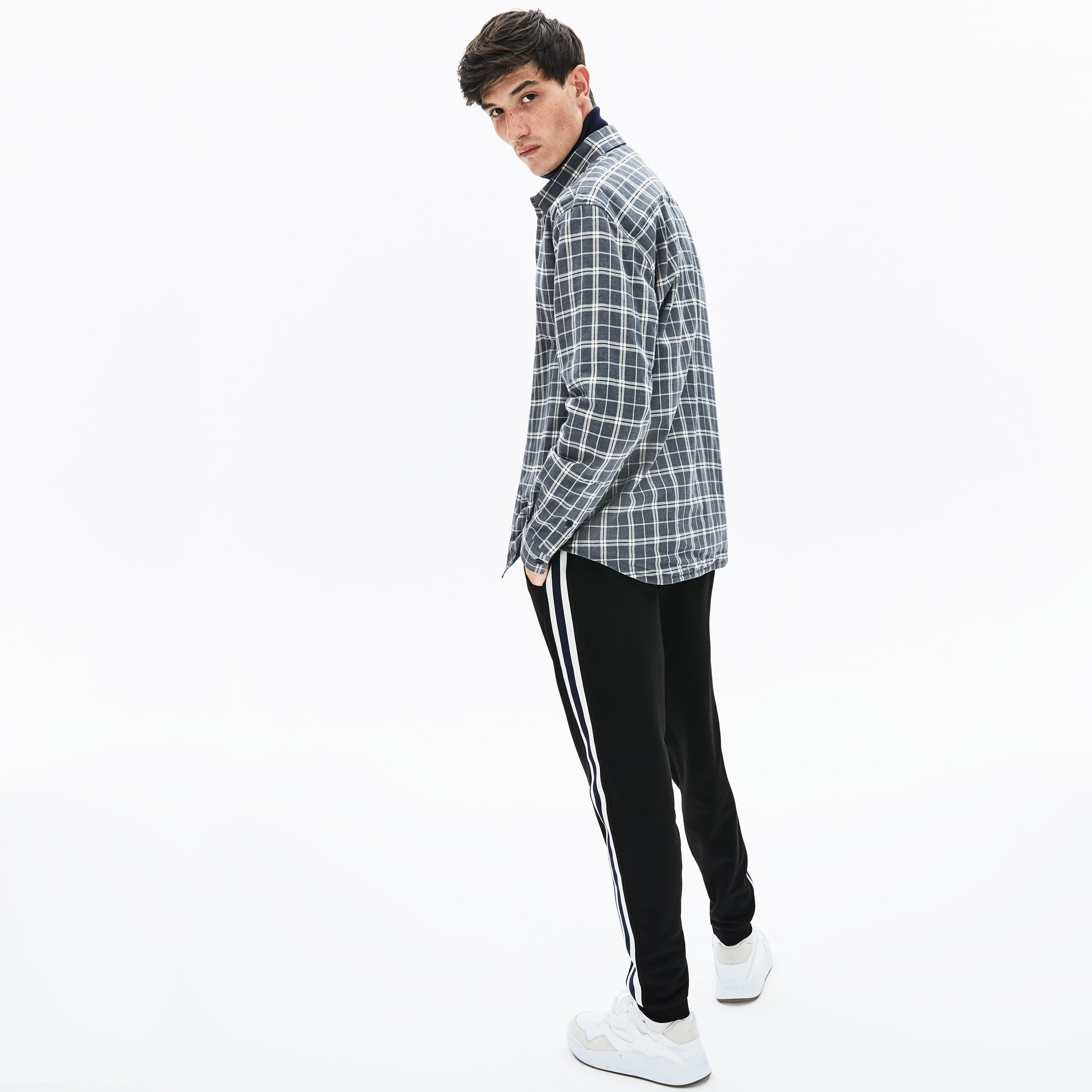 Men's Fleece Side Stripe Trackpants