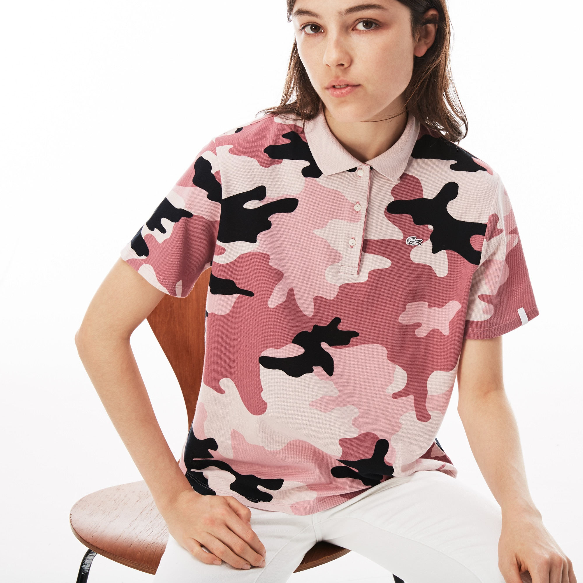 Women's LIVE Loose Fit Camouflage Piqué Polo